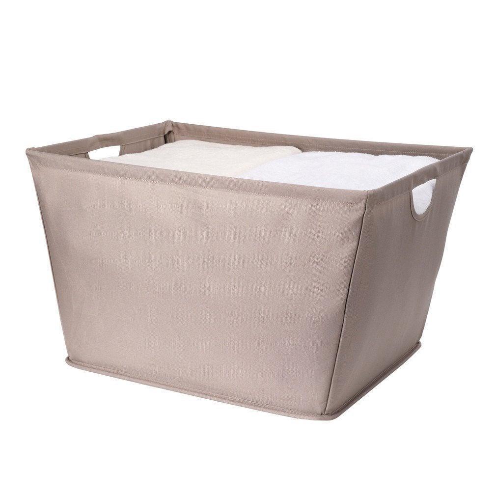 Beau StorageManiac Wire Frame Folding Storage Basket, Durable Open Tapered Fabric  Storage Bin With Built In Handles