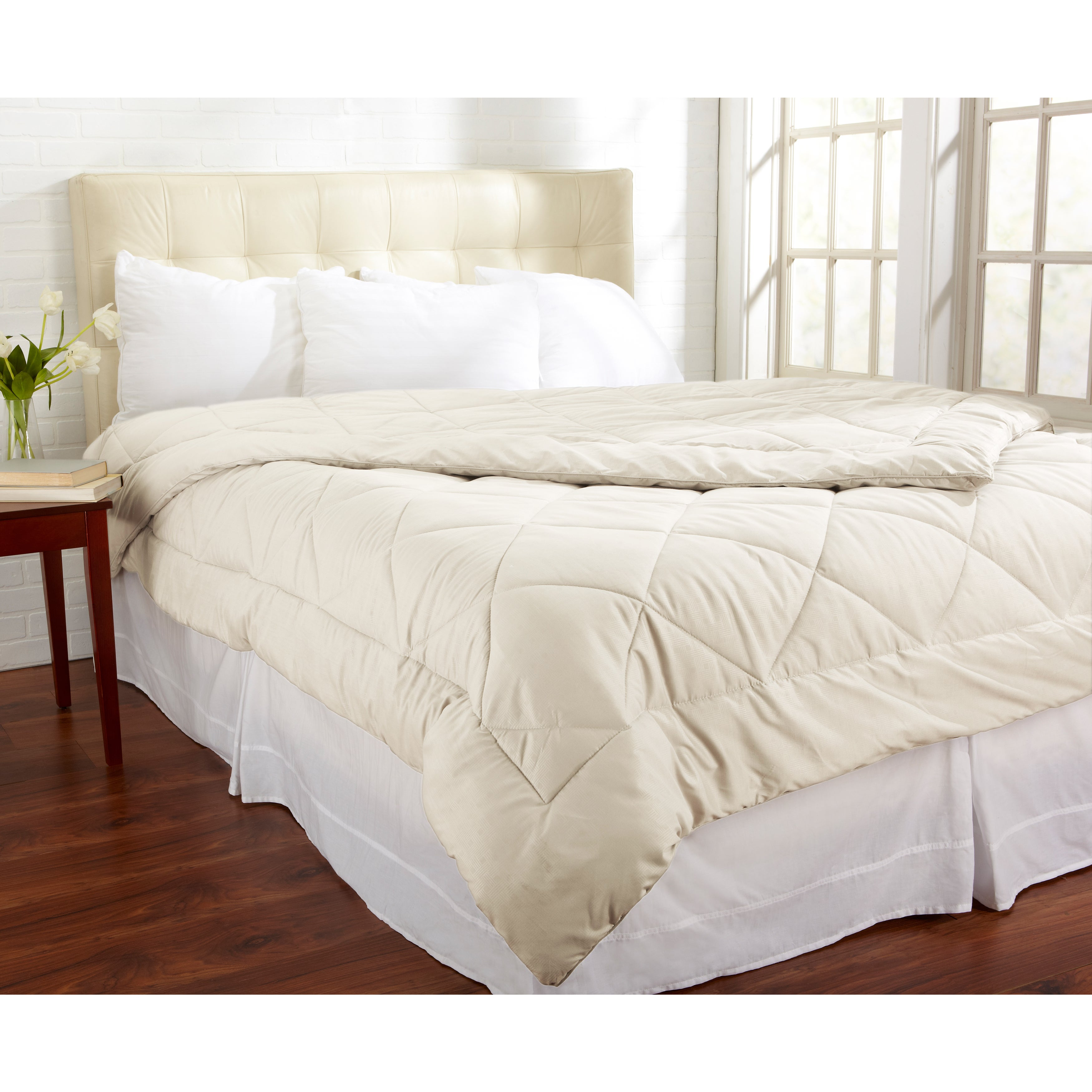 red pin natural alternative vcny queen down comforter diamond