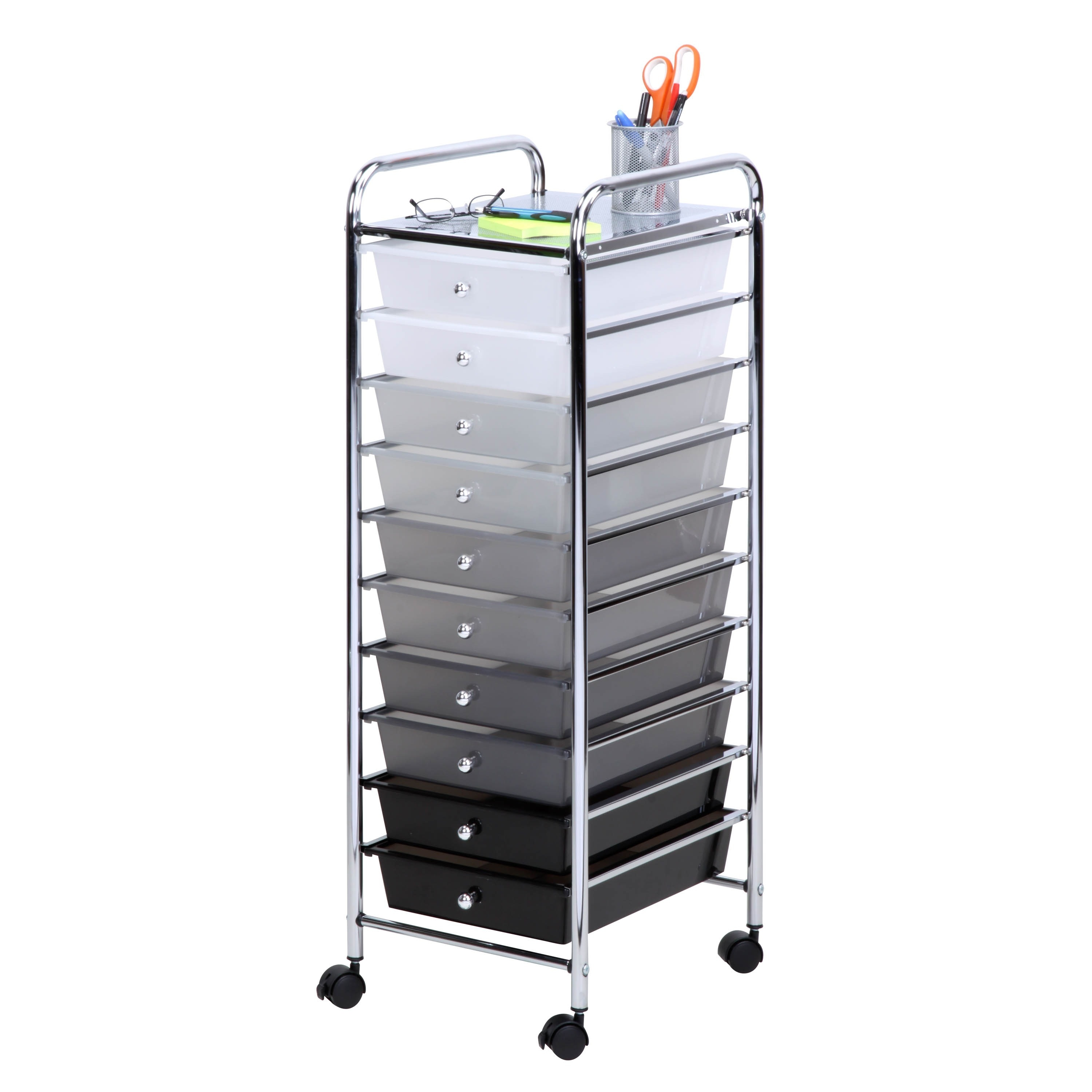 Shop Honey Can Do 10 Drawer Shaded Storage Cart On Sale Free