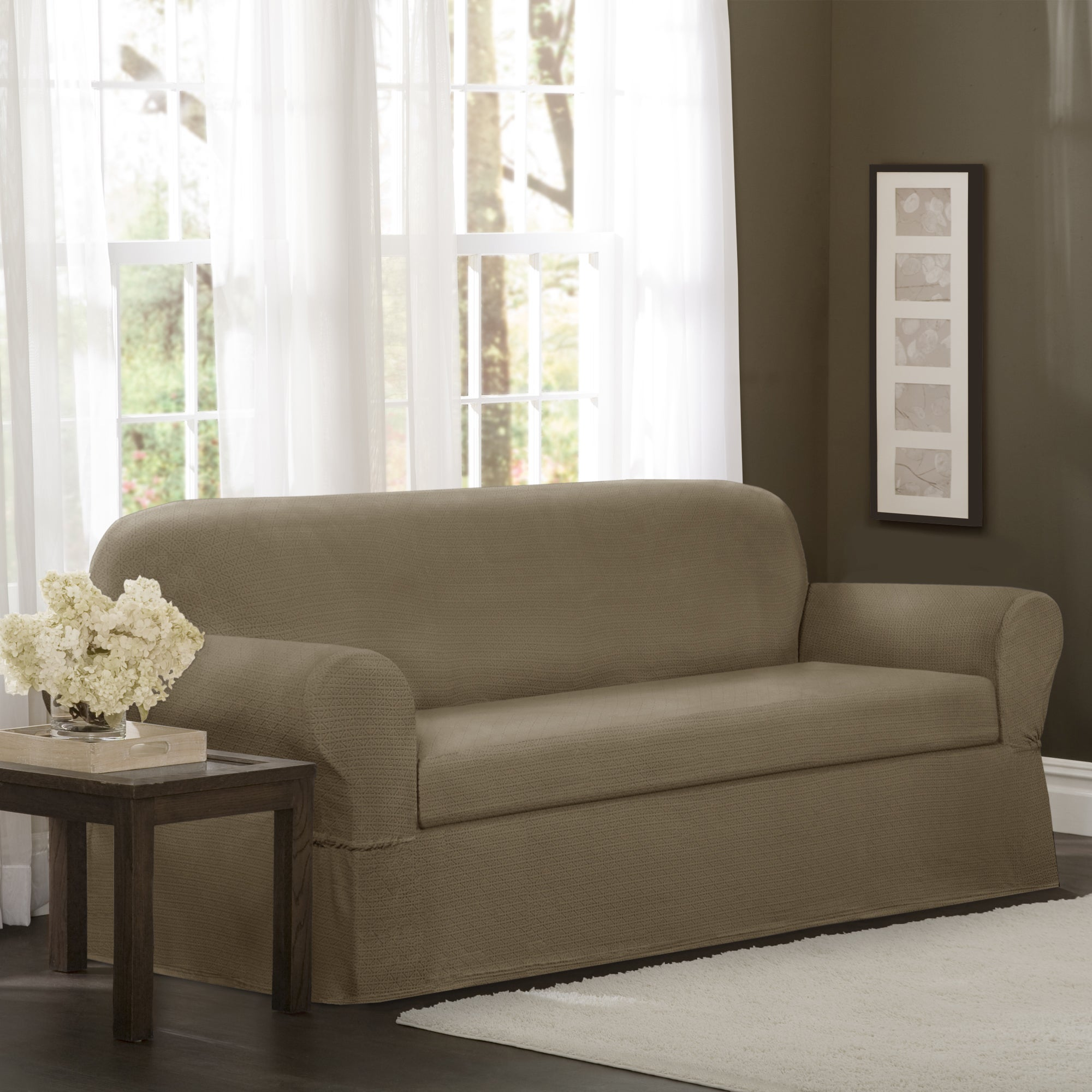 Shop Maytex Torie 2-piece Stretch Sofa Slipcover - On Sale - Free ...