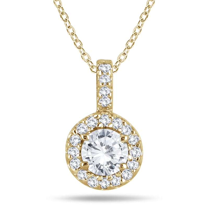 Shop marquee jewels 10k yellow gold 12 carat halo diamond pendant shop marquee jewels 10k yellow gold 12 carat halo diamond pendant free shipping today overstock 10697636 aloadofball Gallery
