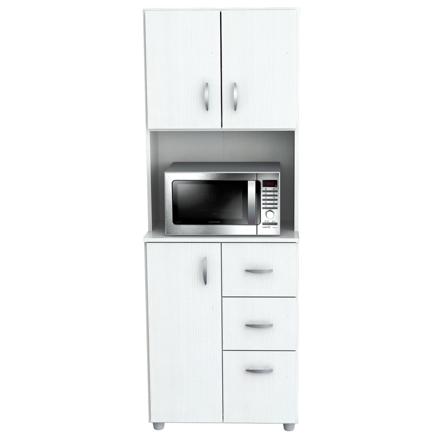 Shop inval america larcinia white laminate wood kitchen storage cabinet on sale free shipping today overstock com 10698433