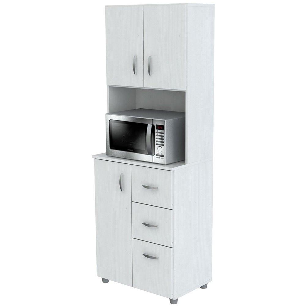 Shop Inval America Larcinia White Laminate/Wood Kitchen Storage ...