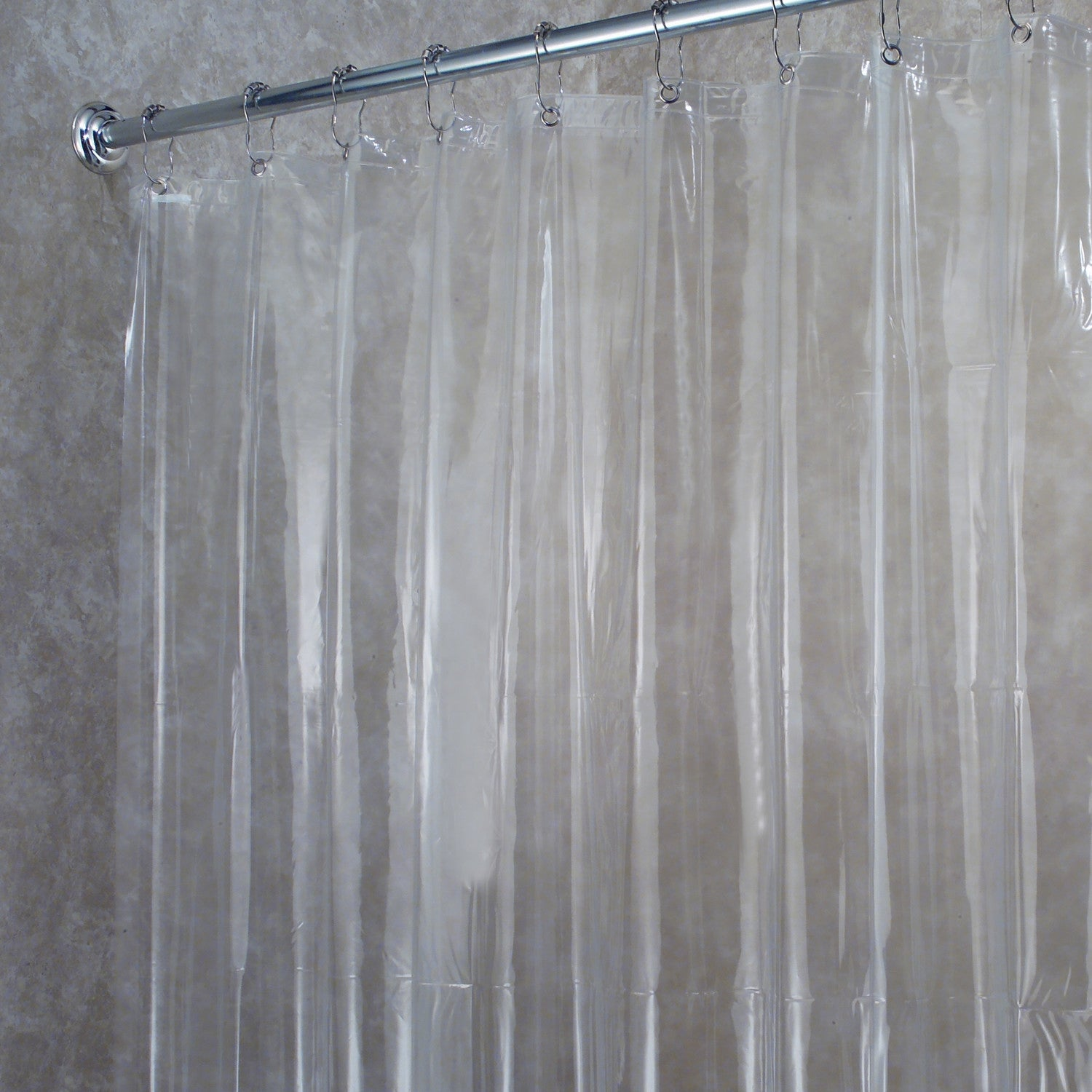 Shop Premium Weight Jumbo Long Vinyl Shower Curtain Liner With Metal Eyelets