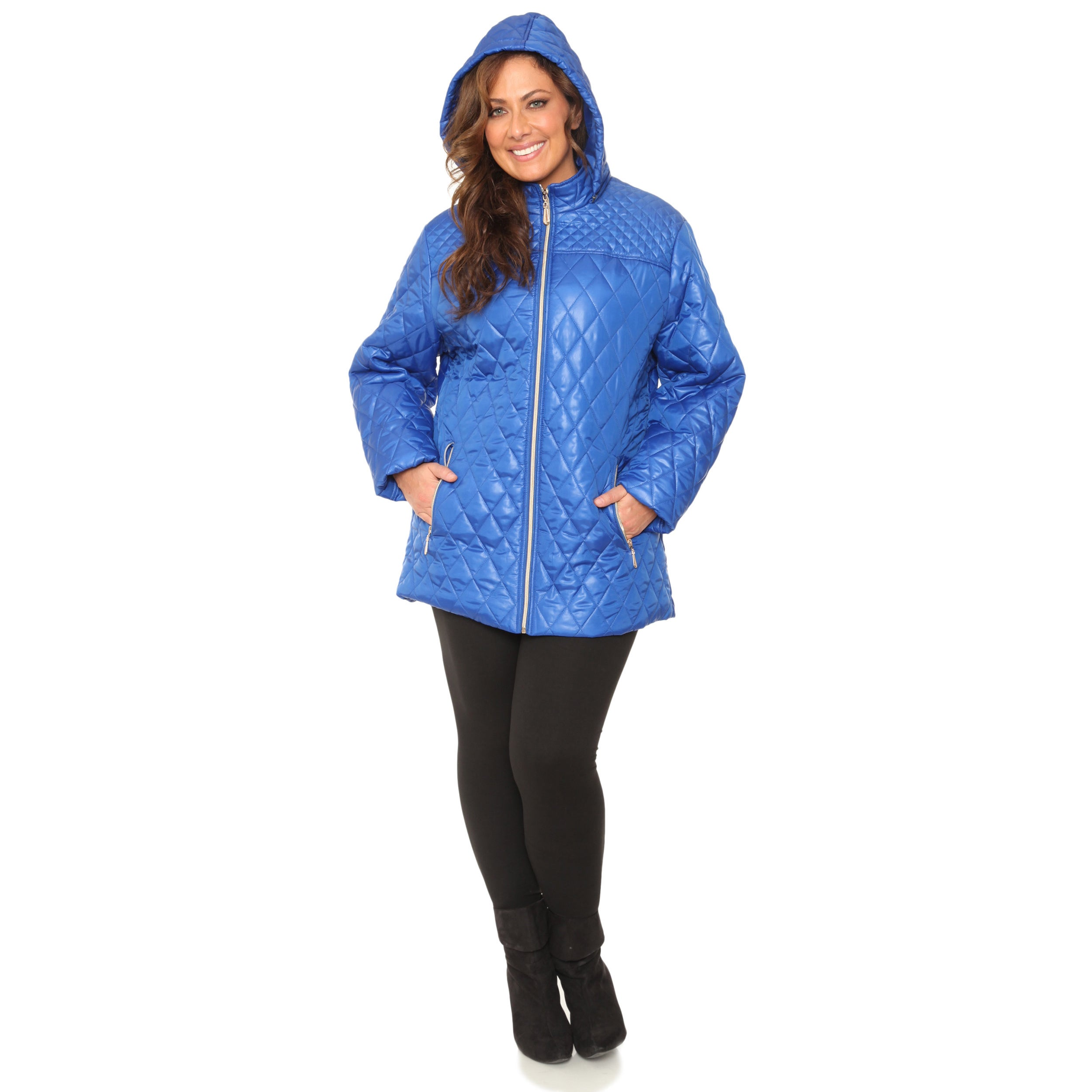 c5721a7aac0 Shop White Mark Women s Plus Size Puffer Coat - On Sale - Free Shipping On  Orders Over  45 - Overstock - 10698631