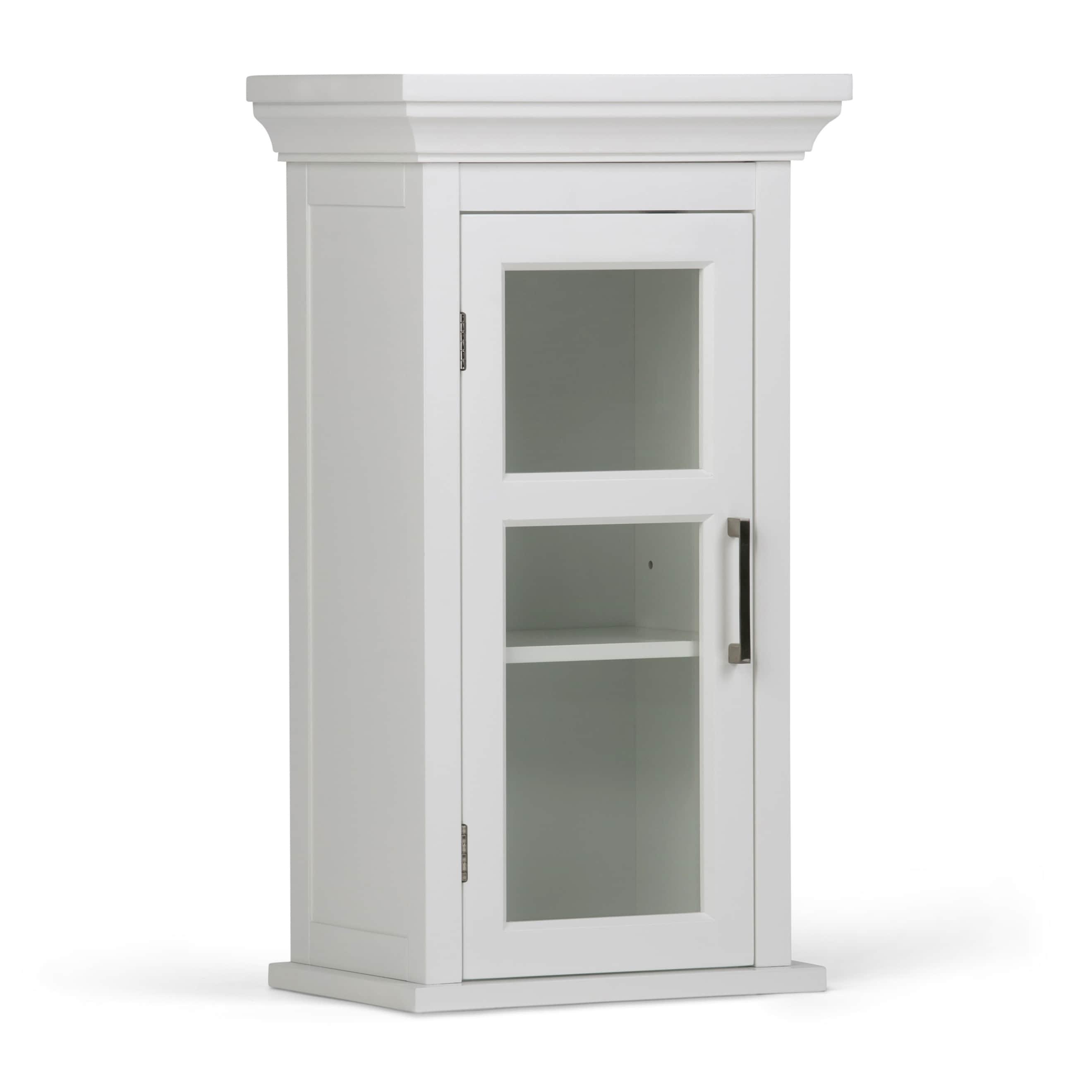 Shop WYNDENHALL Hayes Single Door Bathroom Wall Cabinet in White ...