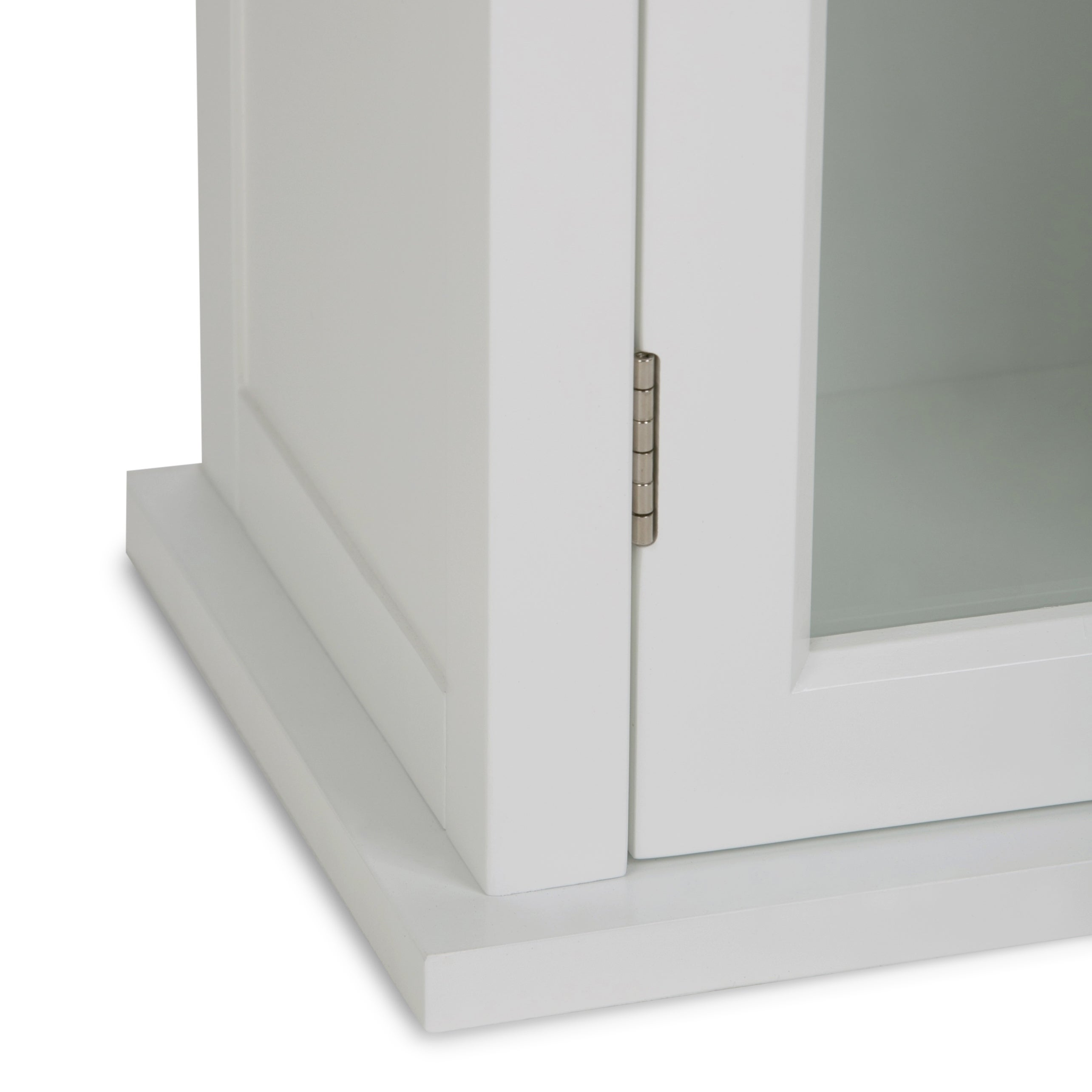 WyndenHall Hayes White Single door Bathroom Wall Cabinet Free