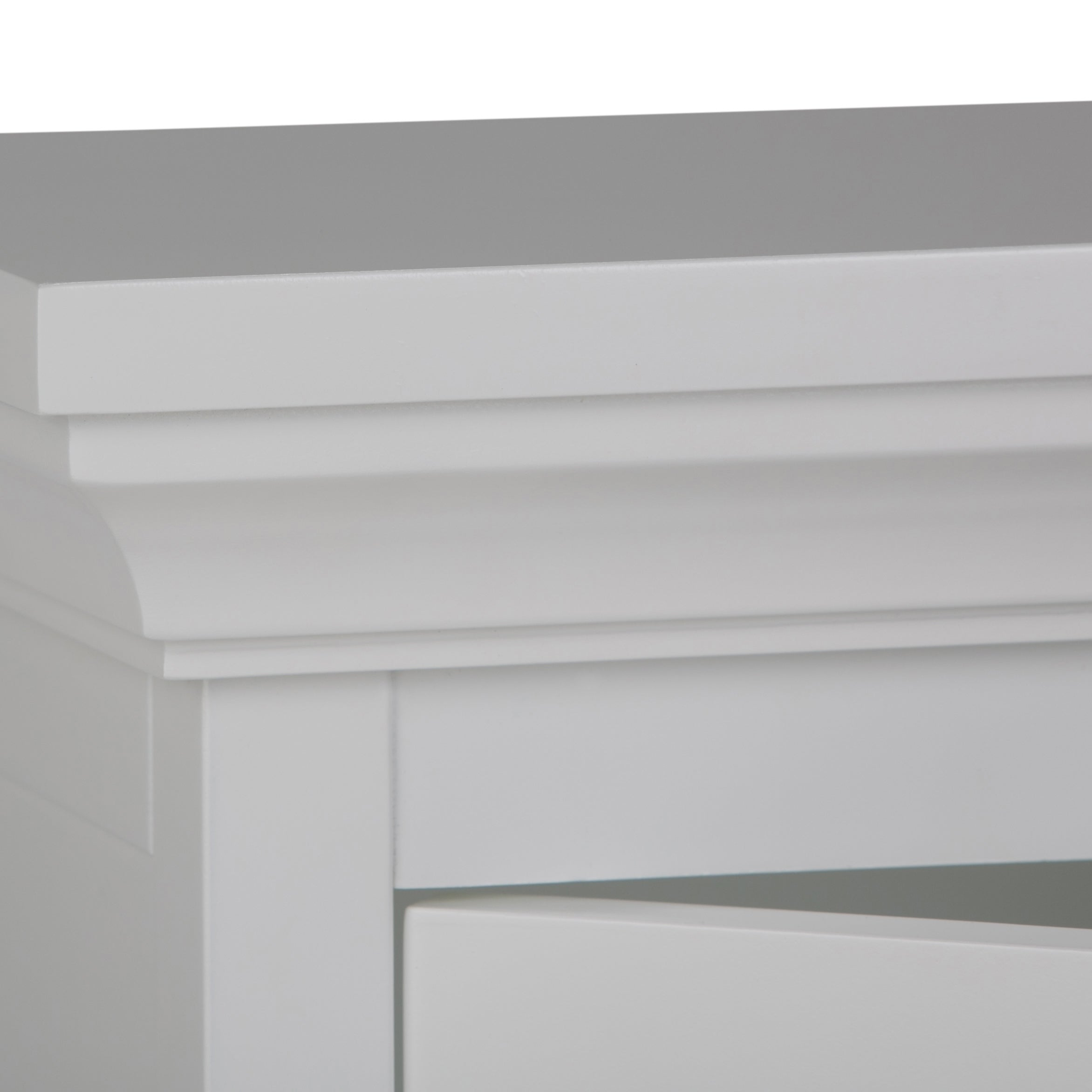 WyndenHall Hayes White Single-door Bathroom Wall Cabinet - Free ...