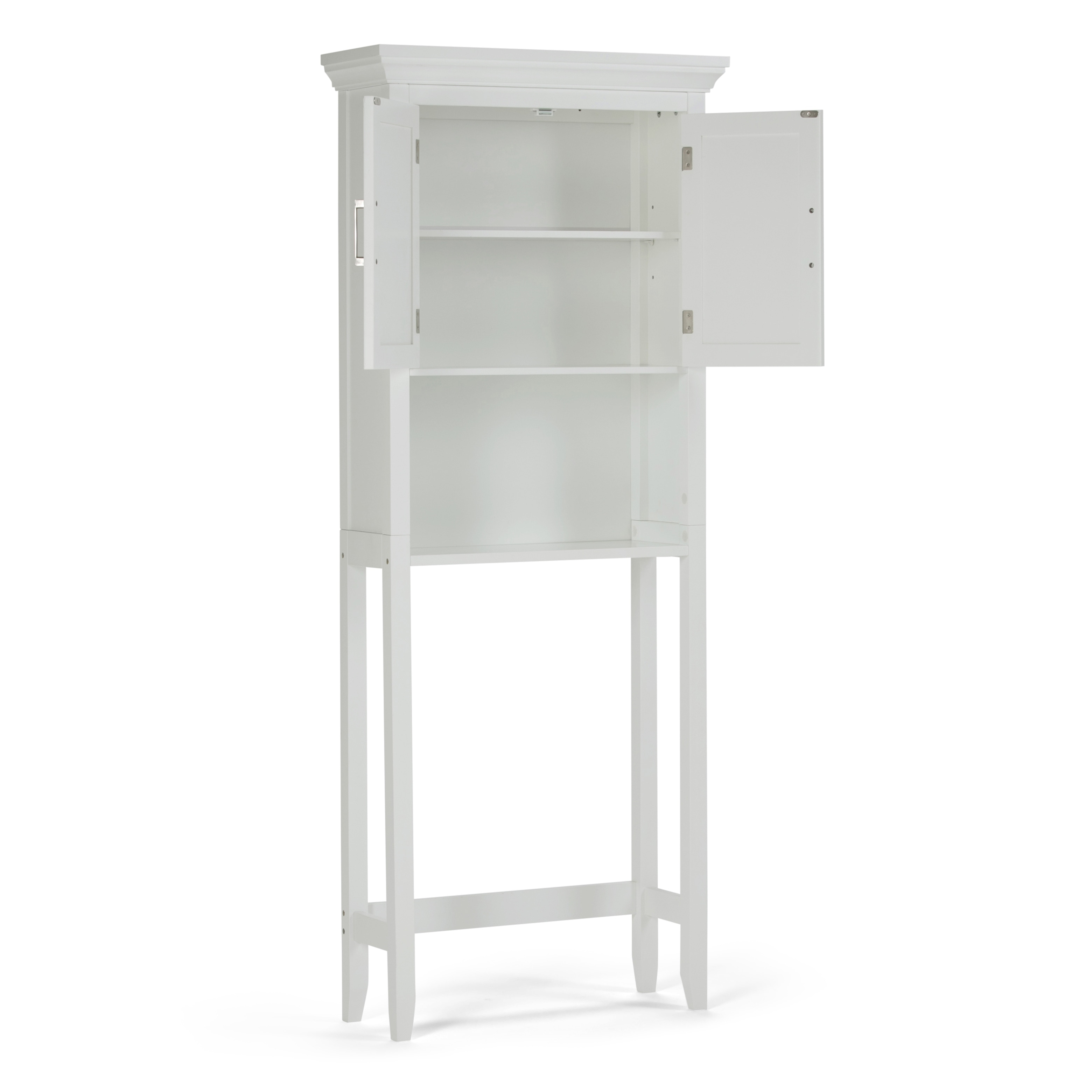 Shop WYNDENHALL Hayes White Bathroom Space Saver Cabinet Free - Wyndenhall hayes white bathroom space saver cabinet