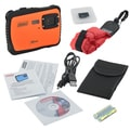 Coleman Xtreme C6WP 12 MP Waterproof Digital Camera with HD Video, SD Card & Floatable Strap