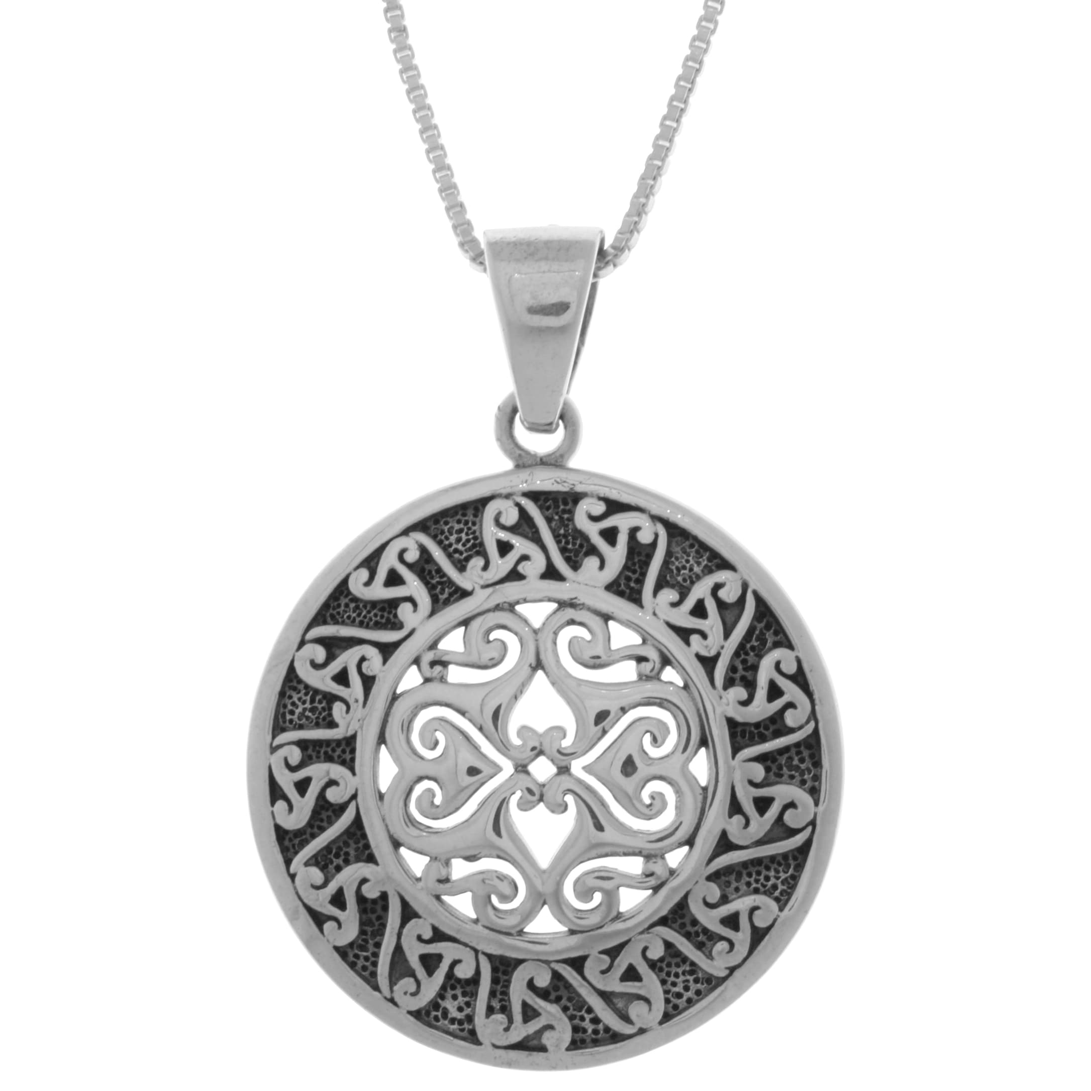 pendant model jewelry ice newgrange card single celtic product triskele silver spiral gift