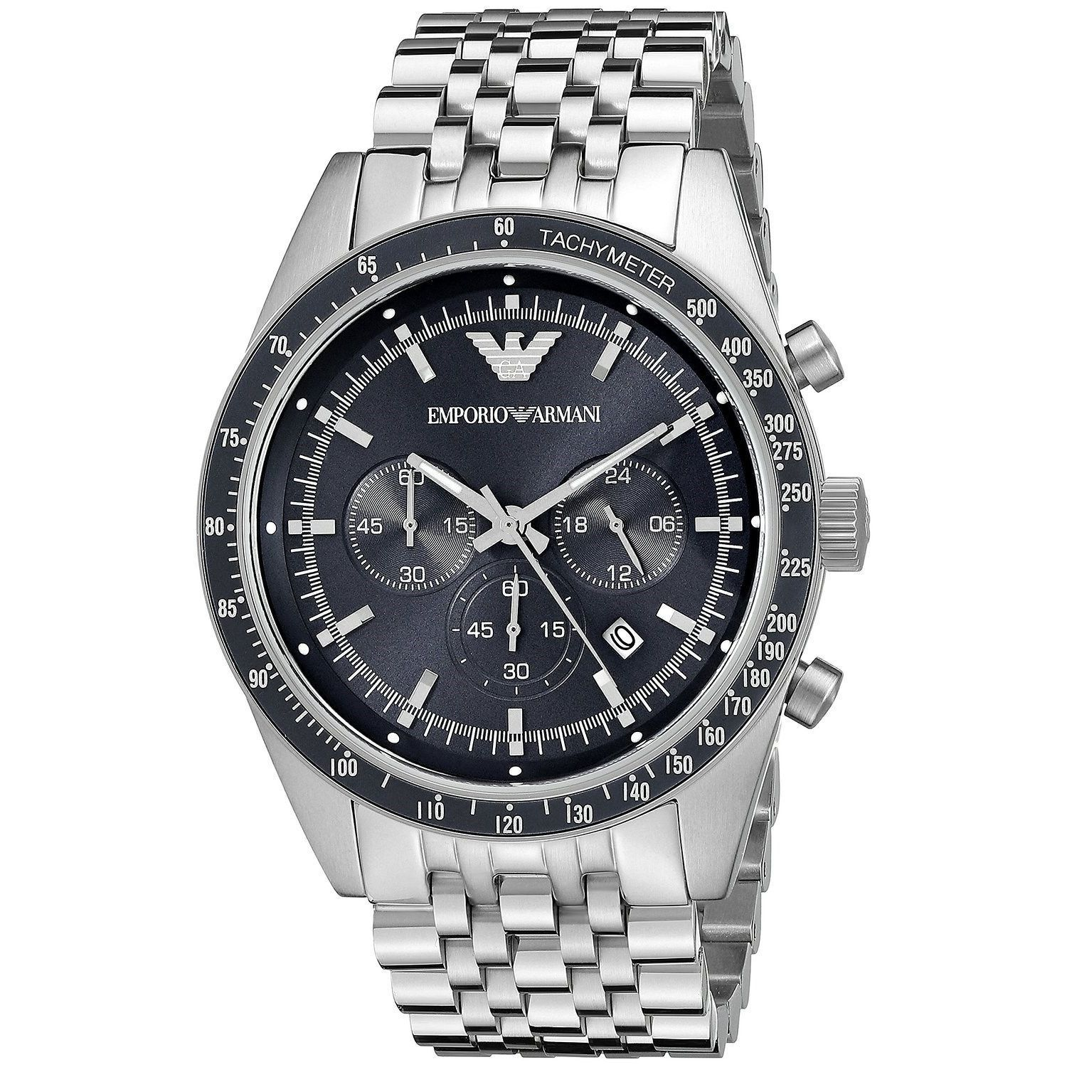 2623d3f74e Shop Emporio Armani Men s AR6072  Sportivo  Chronograph Stainless Steel  Watch - Free Shipping Today - Overstock - 10701392