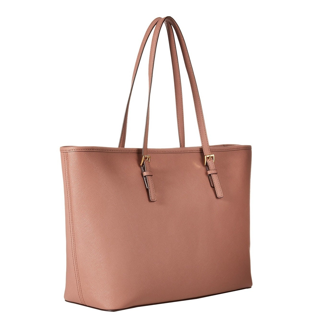 e689350d7e62 Shop Michael Kors Jet Set Medium Saffiano Leather Tote Bag - On Sale - Free  Shipping Today - Overstock - 10701567