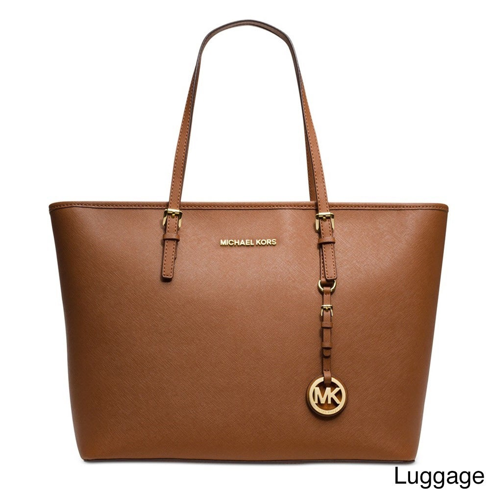 138ad89abe Shop Michael Kors Jet Set Medium Saffiano Leather Tote Bag - On Sale - Free  Shipping Today - Overstock - 10701567