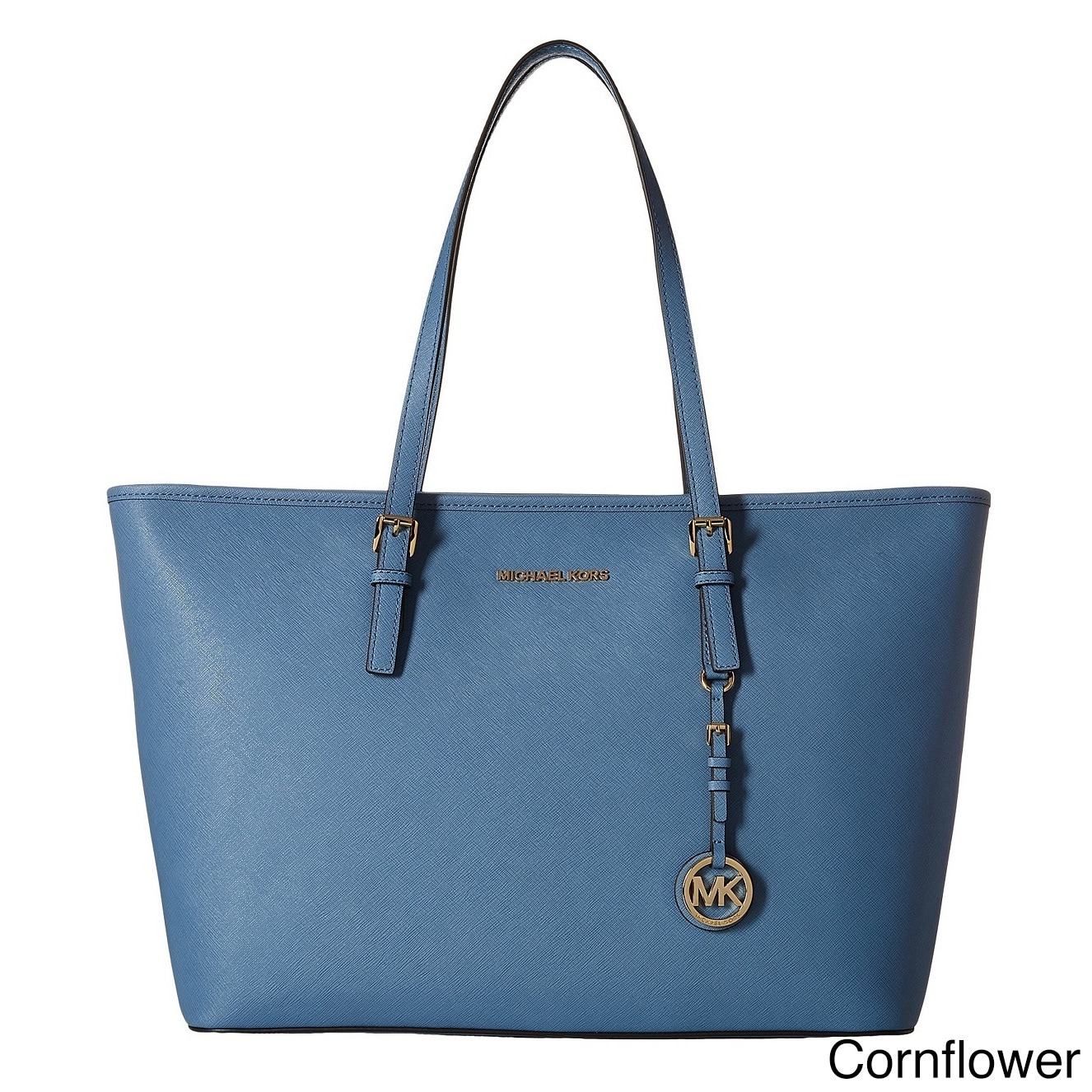 c743a824ec8f Shop Michael Kors Jet Set Medium Saffiano Leather Tote Bag - Free Shipping  Today - Overstock - 10701567