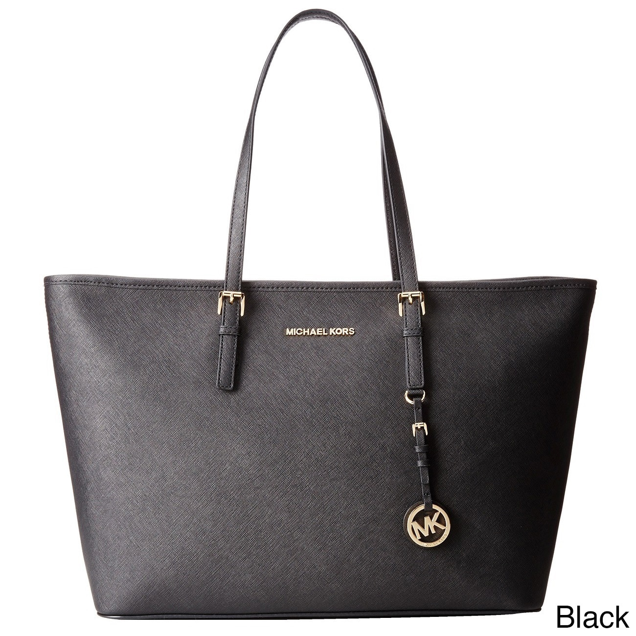 ebd42d922249f5 Shop Michael Kors Jet Set Medium Saffiano Leather Tote Bag - On Sale - Free  Shipping Today - Overstock - 10701567