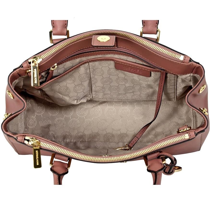 c3b16aa5e85 ... greece shop michael kors sutton dusty rose leather medium satchel  handbag free shipping today overstock 10701571 ...