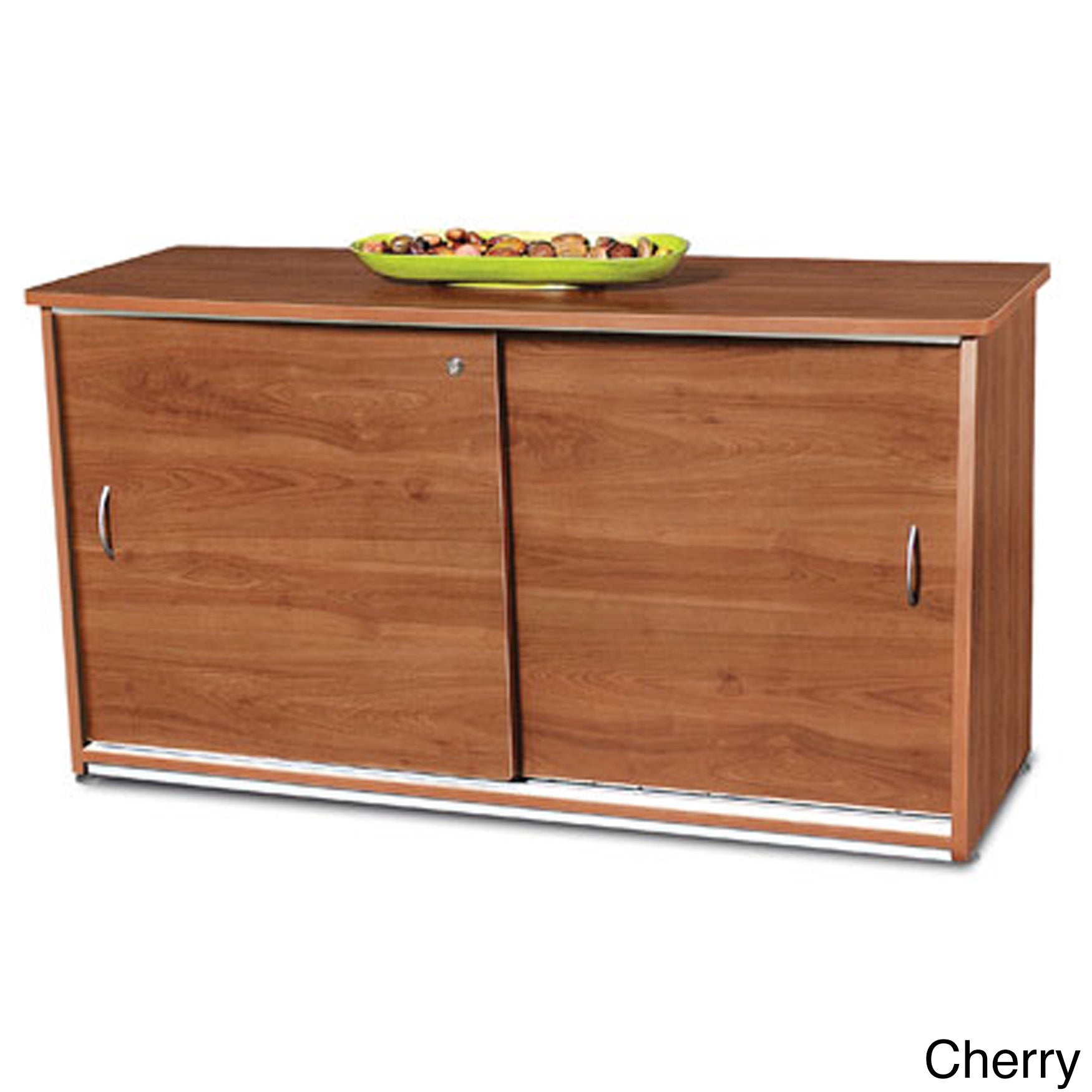 Shop Laminate And Metal Sliding Door Credenza Free Shipping Today