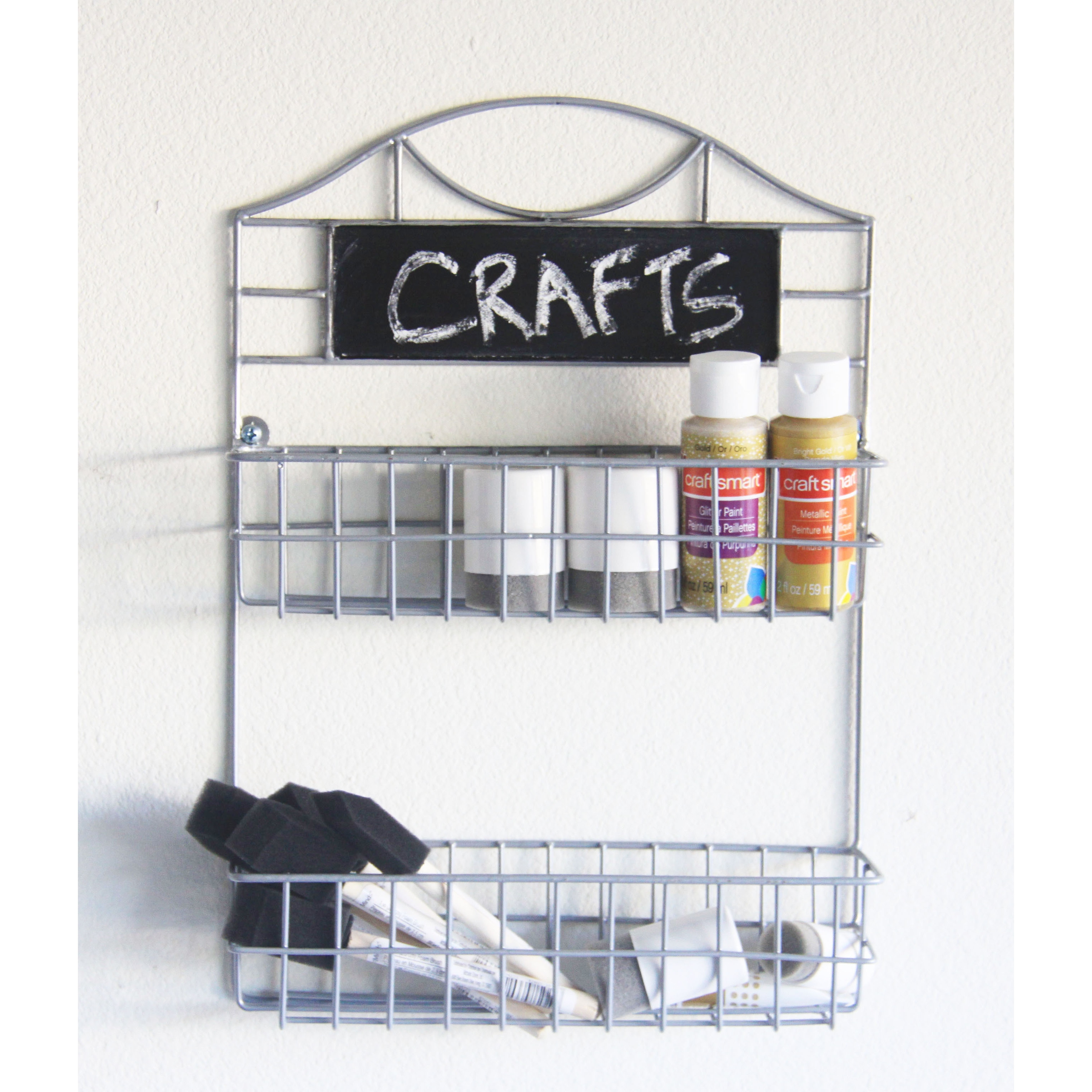 Shop Wall-mounted 2-tier Spice Rack with Chalkboard - Free Shipping ...