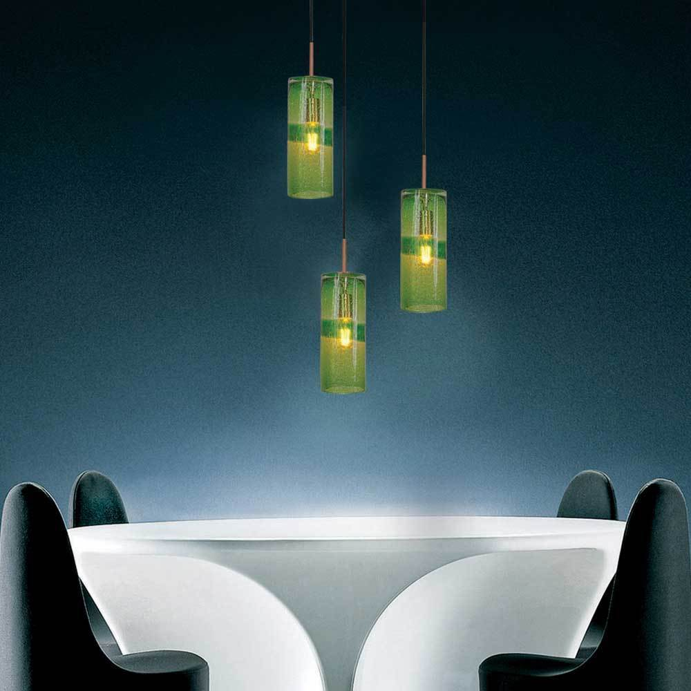Shop JESCO 1-Light Hand-Blown Glass Pendant With Canopy - Free ...