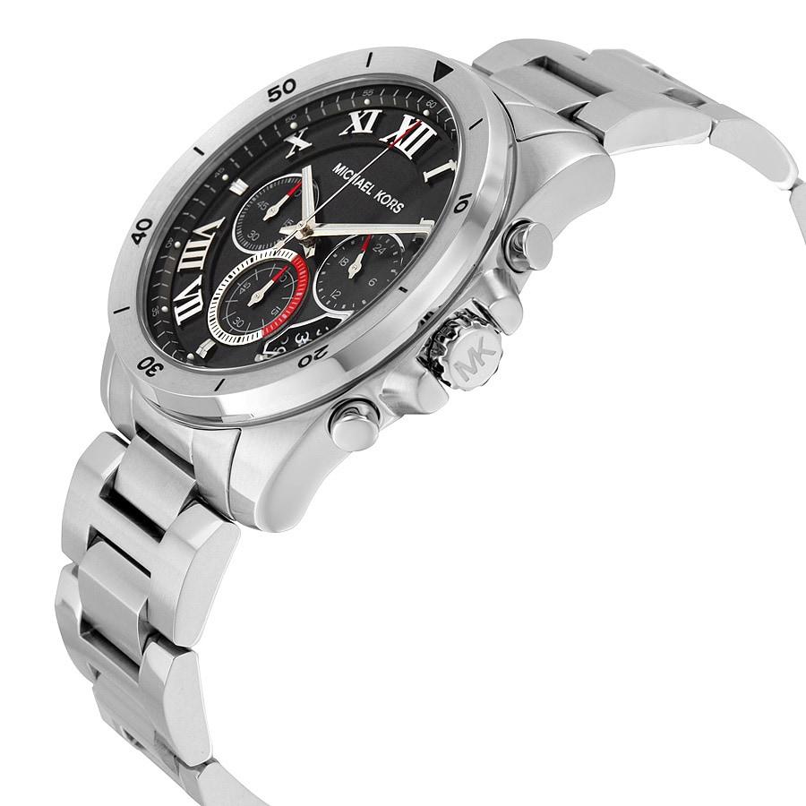 d945eea62bb0 Shop Michael Kors Men s MK8438 Brecken Chronograph Black Dial Stainless  Steel Bracelet Watch - Free Shipping Today - Overstock - 10704286