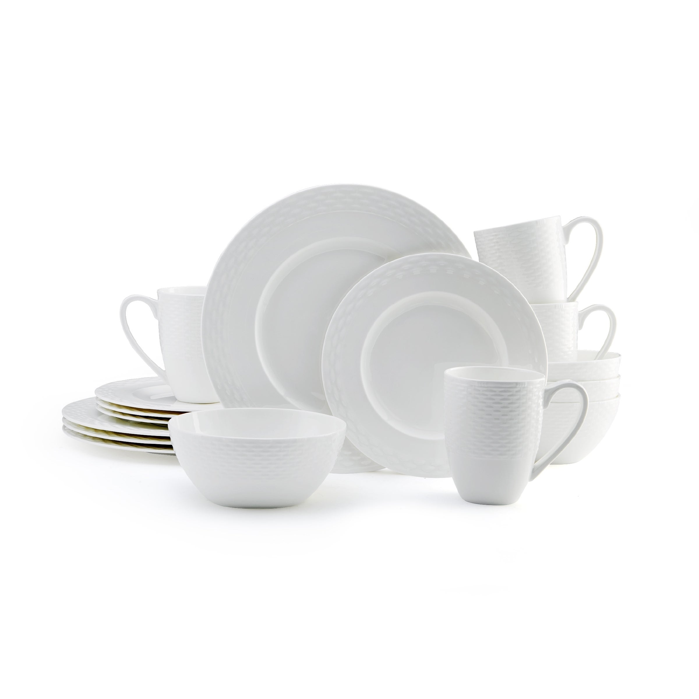 Mikasa Ortley 16-piece Dinnerware Set Bone China Round White - Free Shipping Today - Overstock - 17764833  sc 1 st  Overstock & Mikasa Ortley 16-piece Dinnerware Set Bone China Round White - Free ...