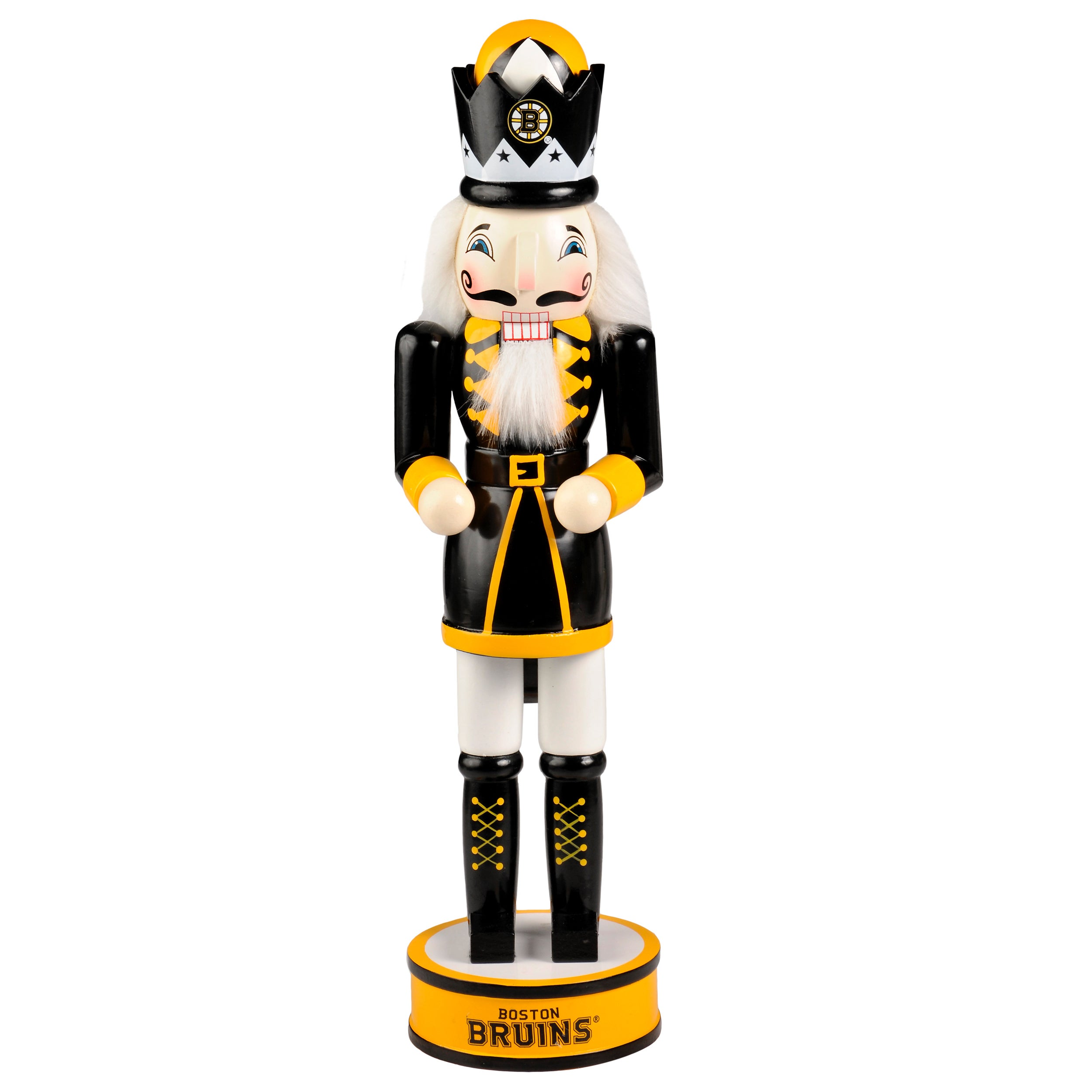 Shop Forever Collectibles NHL Boston Bruins 14-inch Collectible Nutcracker  - Free Shipping On Orders Over  45 - Overstock.com - 10704897 32256bdac