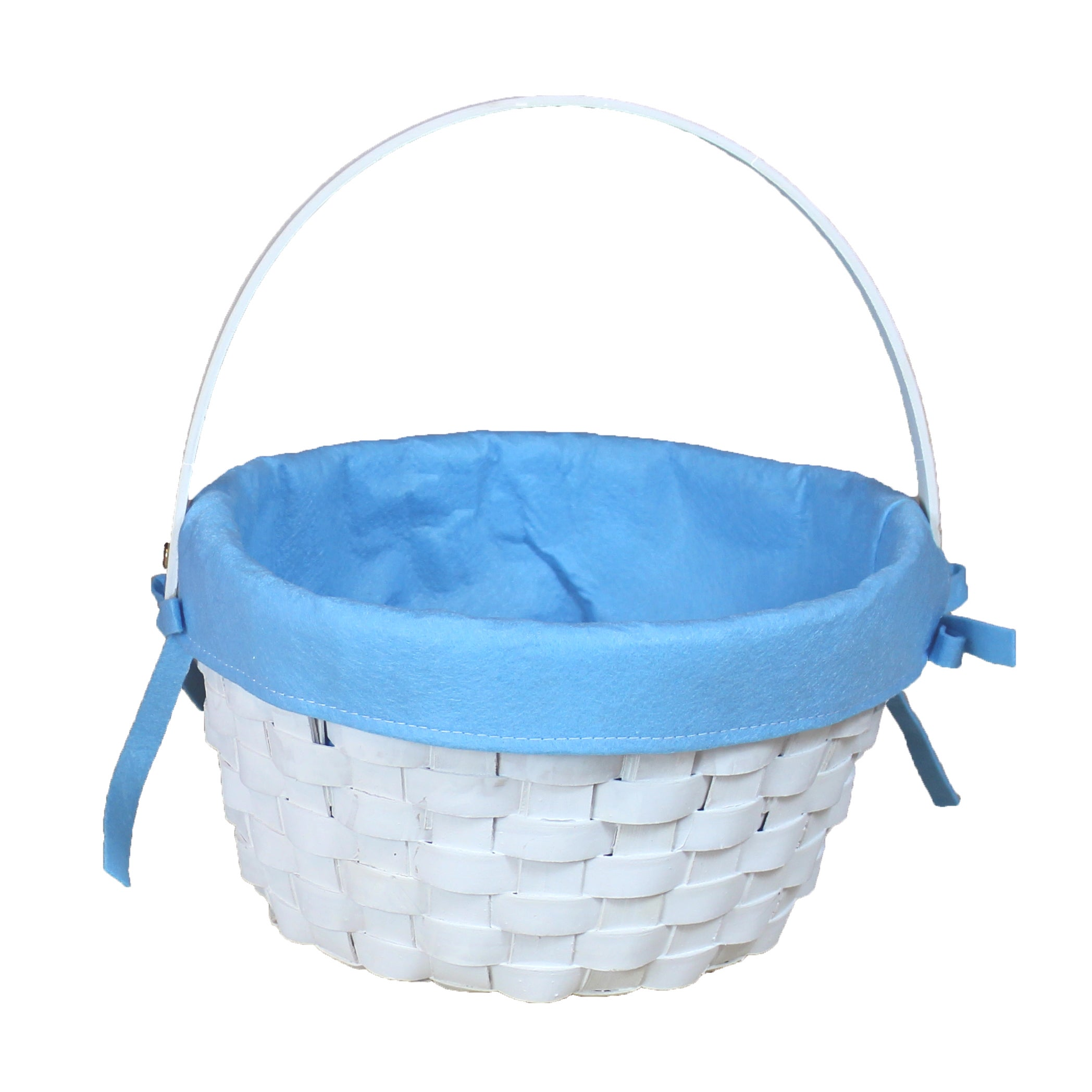 Round Fabric Lined Woodchip Basket - Free Shipping On Orders Over ...