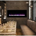 Electric Fireplace Wall Mounted, LED Fire & Ice Flame, With Remote 54 inch by Northwest