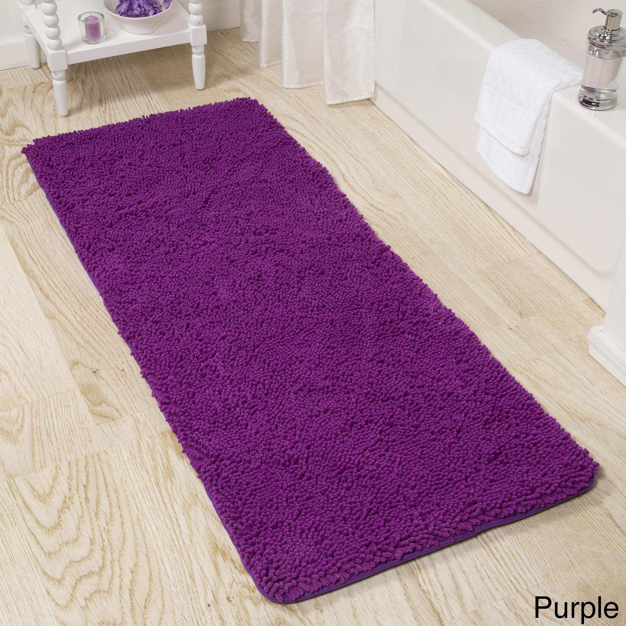 loomage bath purple mat mats