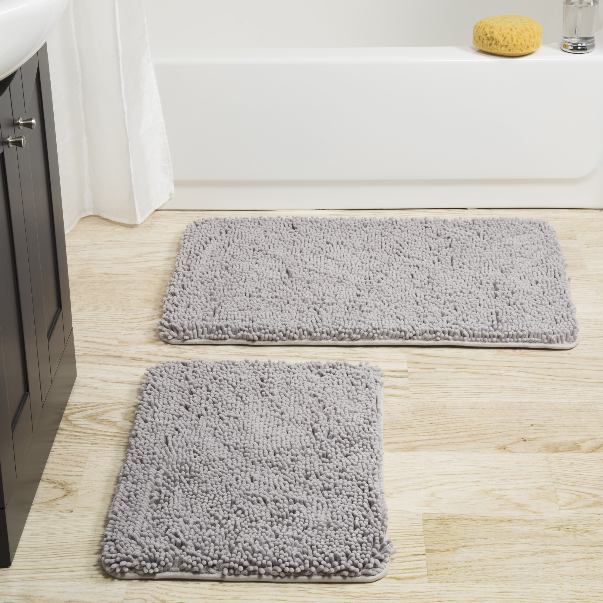 Windsor Home 2-piece Memory Foam Shag Bath Mat - Free Shipping On ...