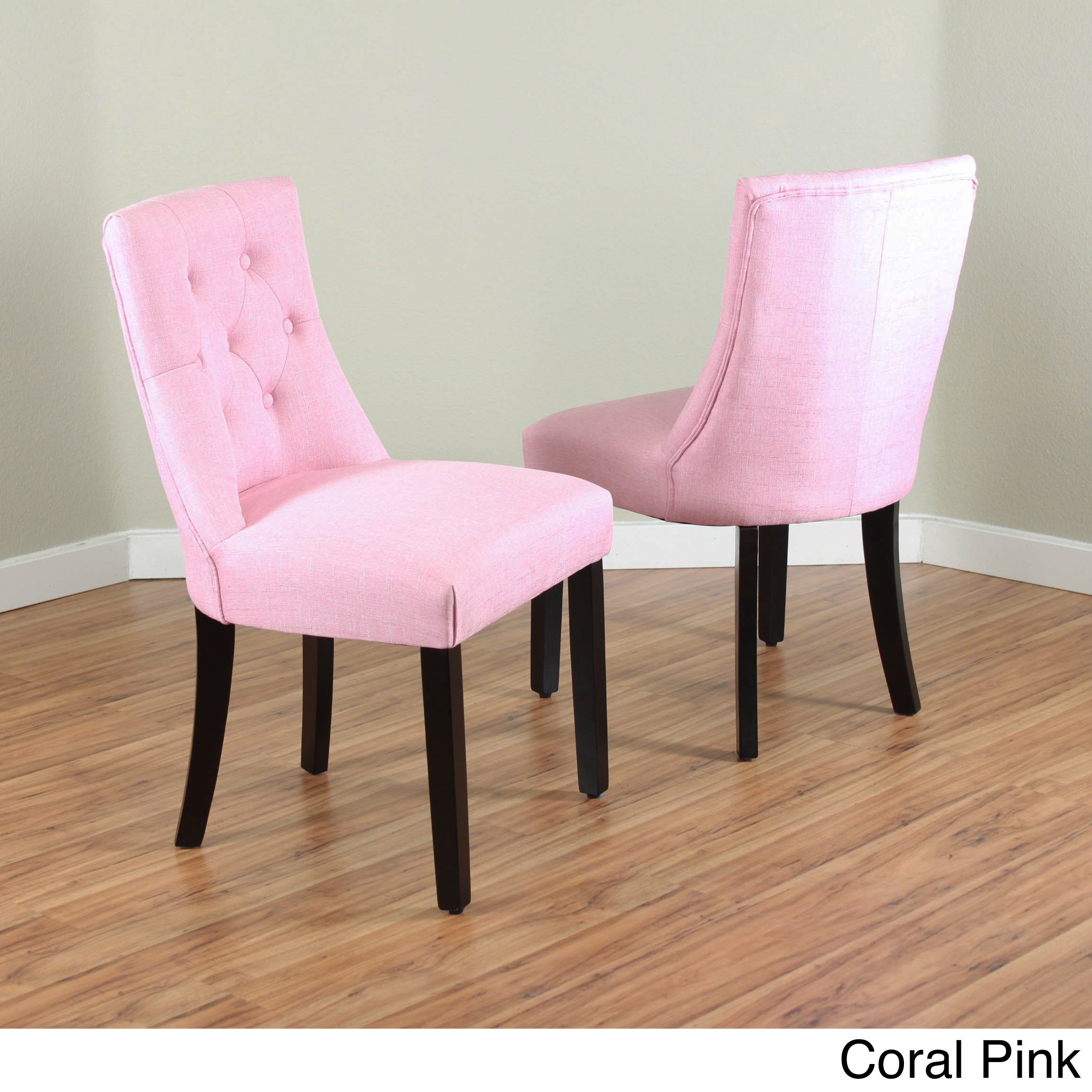 Shop Bellcrest Upholstered Espresso Dining Chairs (Set Of 2)   Free  Shipping Today   Overstock.com   10707641