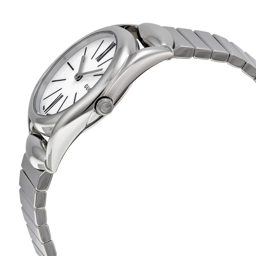 f288c5bd80987 Shop Gucci Women s YA140505  Horsebit  Stainless Steel Watch - Free  Shipping Today - Overstock - 10708621