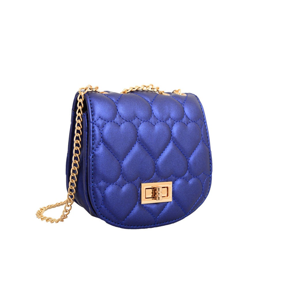 2ff6fd25682 Shop Mellow World Amora Quilted Heart Blue Clutch - Free Shipping On Orders  Over $45 - Overstock - 10735362