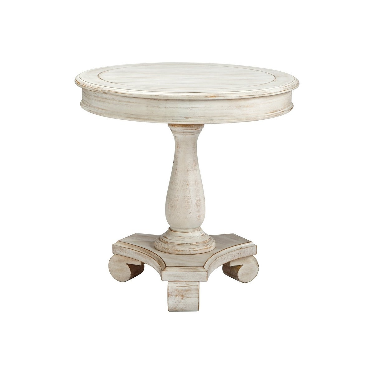 Ordinaire Shop Signature Design By Ashley Mirimyn White Round Accent Table   Free  Shipping Today   Overstock.com   10735748