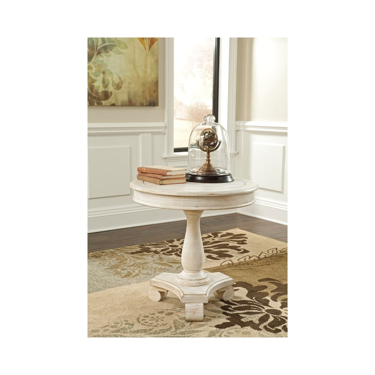 Shop Signature Design By Ashley Mirimyn White Round Accent Table   Free  Shipping Today   Overstock.com   10735748
