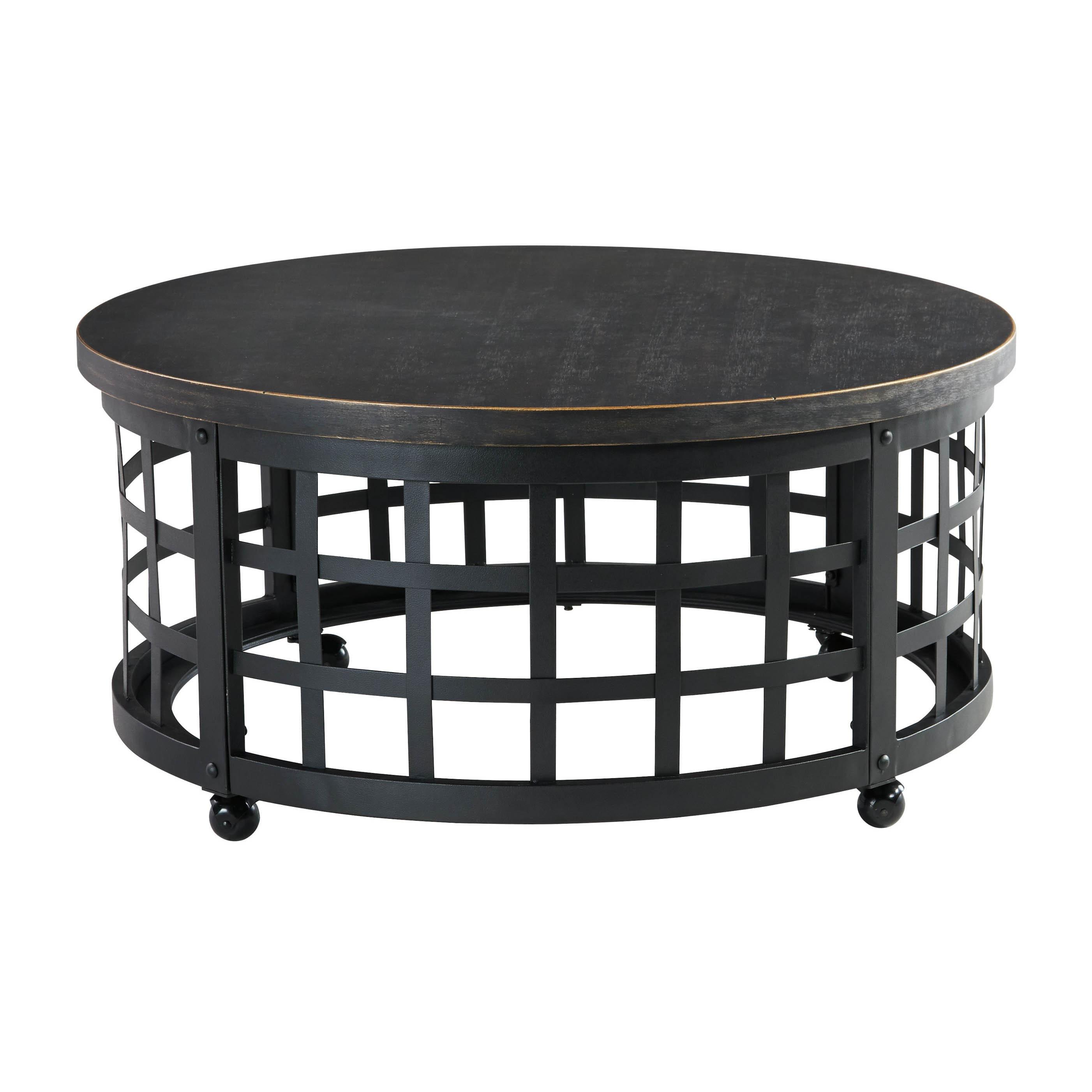 Signature Design by Ashley Marimon Black Round Cocktail Table