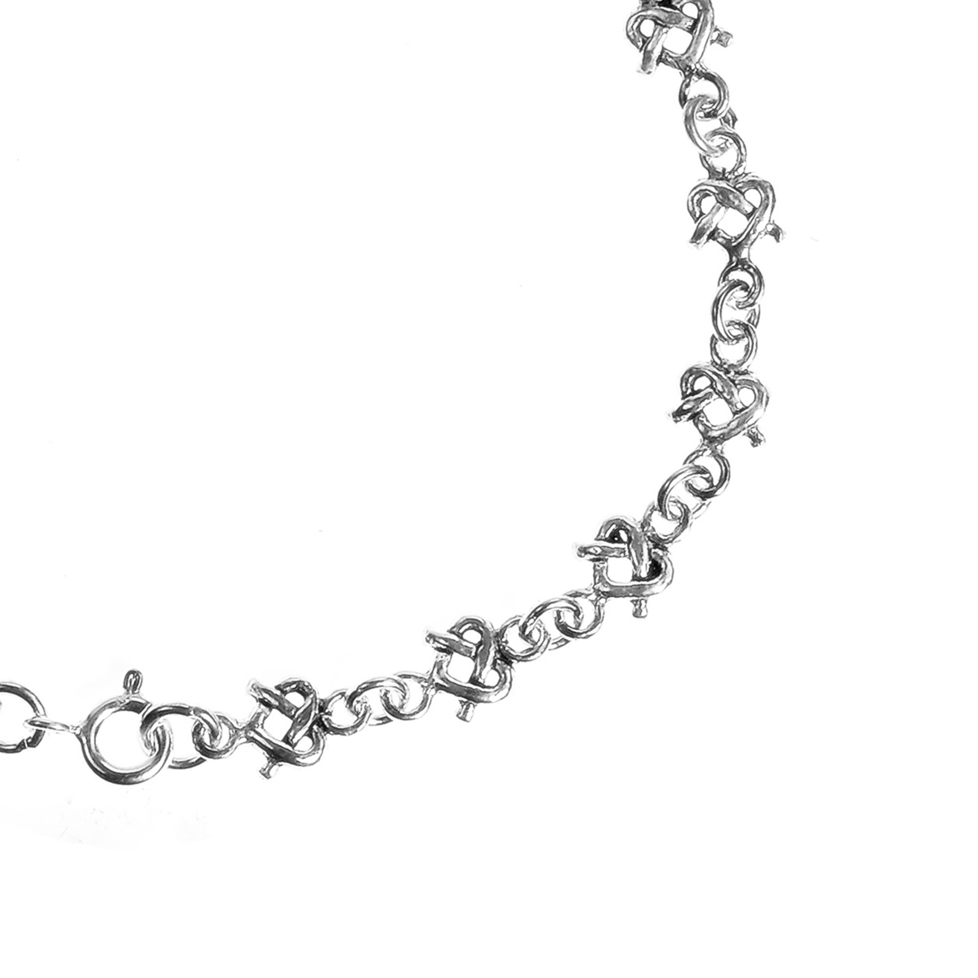 Bonyak Jewelry Sterling Silver Rhodium-Plated CZ Heart with 2in ext Necklace
