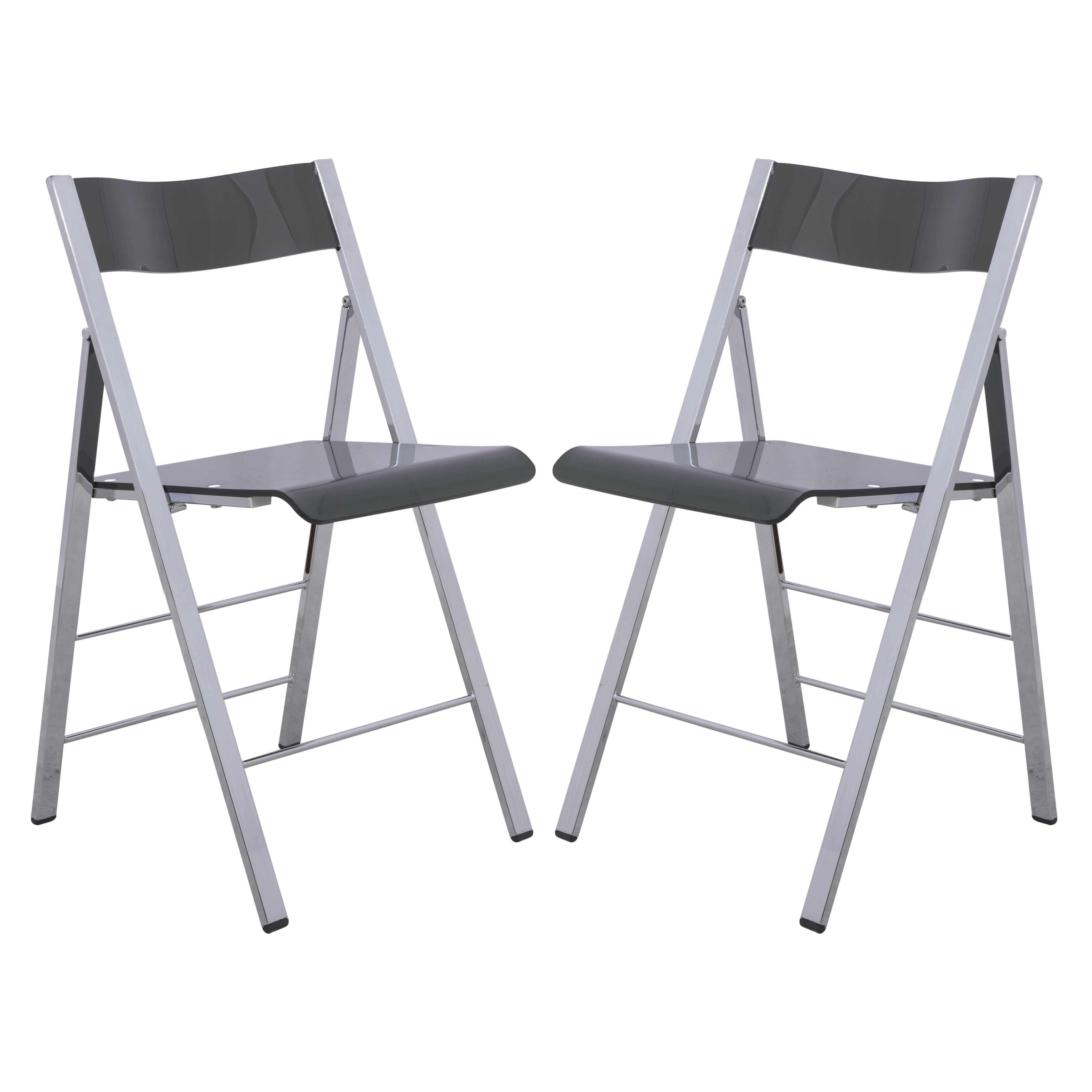 LeisureMod Menno Transparent Black Acrylic Folding Chair (Set Of 2)   Free  Shipping Today   Overstock   17801597