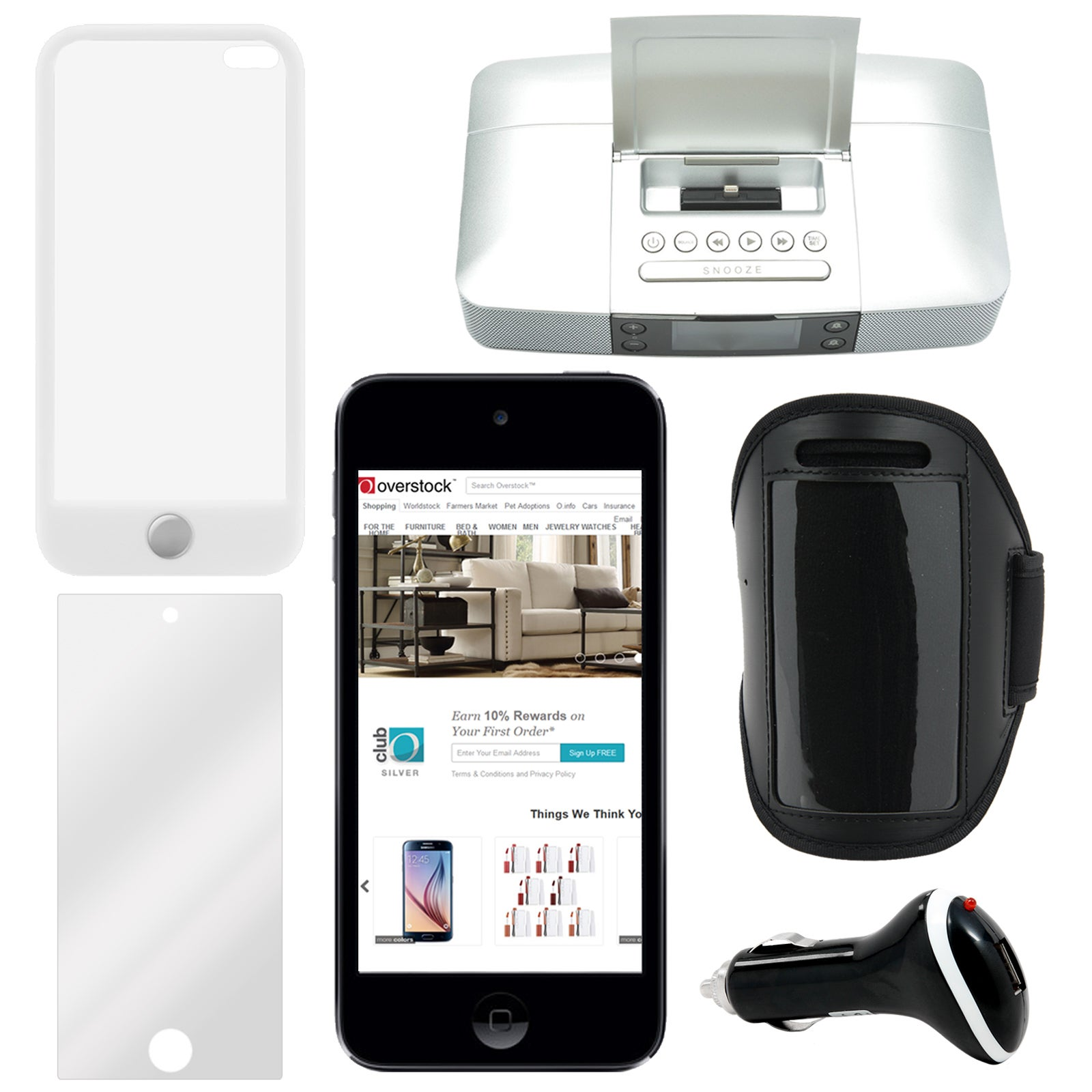 Shop Apple 6th Gen 2015 Ipod Touch 16gb With Accessories Free 6 32gb Blue Shipping Today 10747064