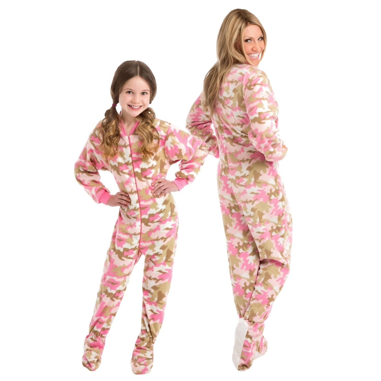 2417c8d02 Shop Big Feet Pjs Pink Camo Micro-polar Fleece Adult Sleeper Footed ...