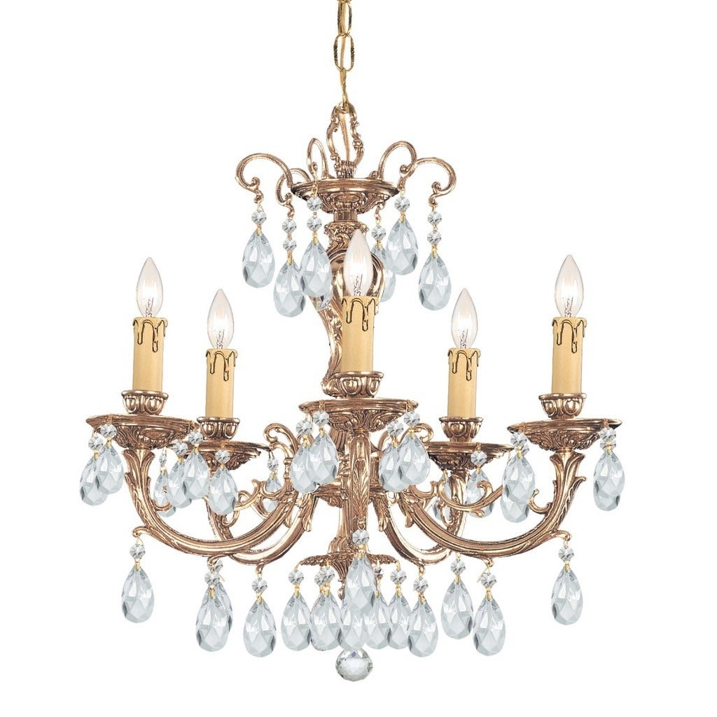 Crystorama Etta Collection 5 Light Olde Brass Chandelier Free Wiring Switch For Bathroom Faa Shipping Today 17809552