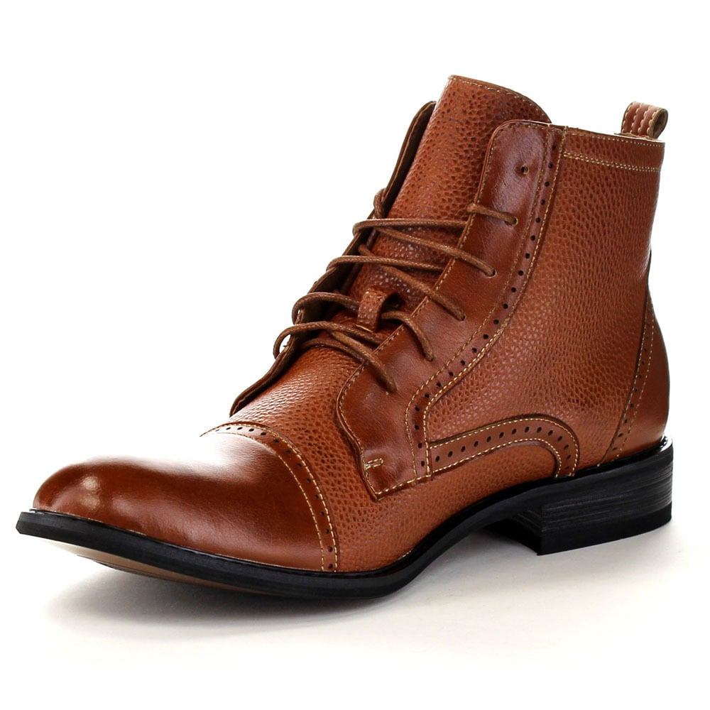 FERRO ALDO MFA-806013 Men's Cap Toe Perforated Lace Up Casual Ankle Booties  - Free Shipping Today - Overstock.com - 17809741