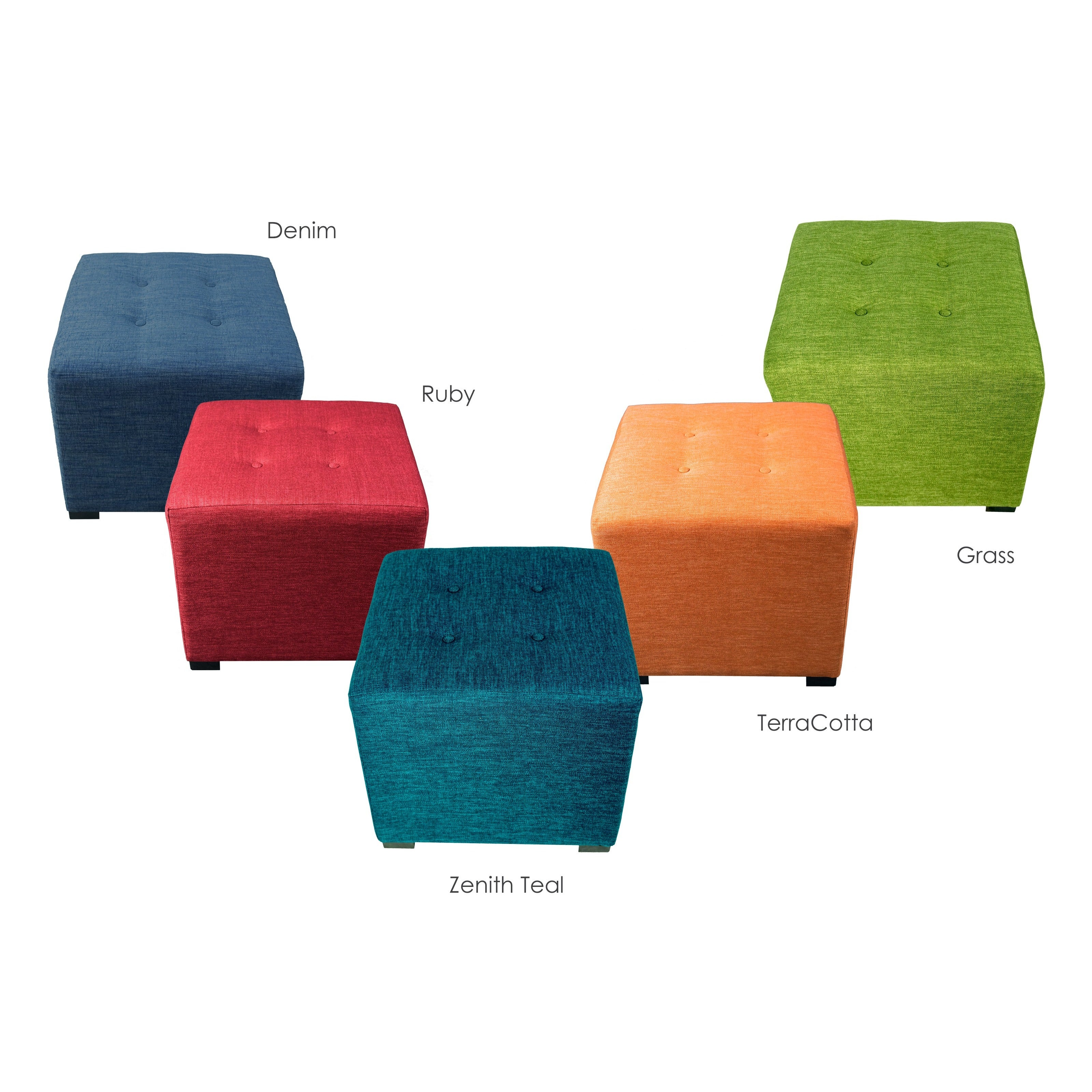 MJL Furniture Key Largo 4-button Tufted Square Ottoman