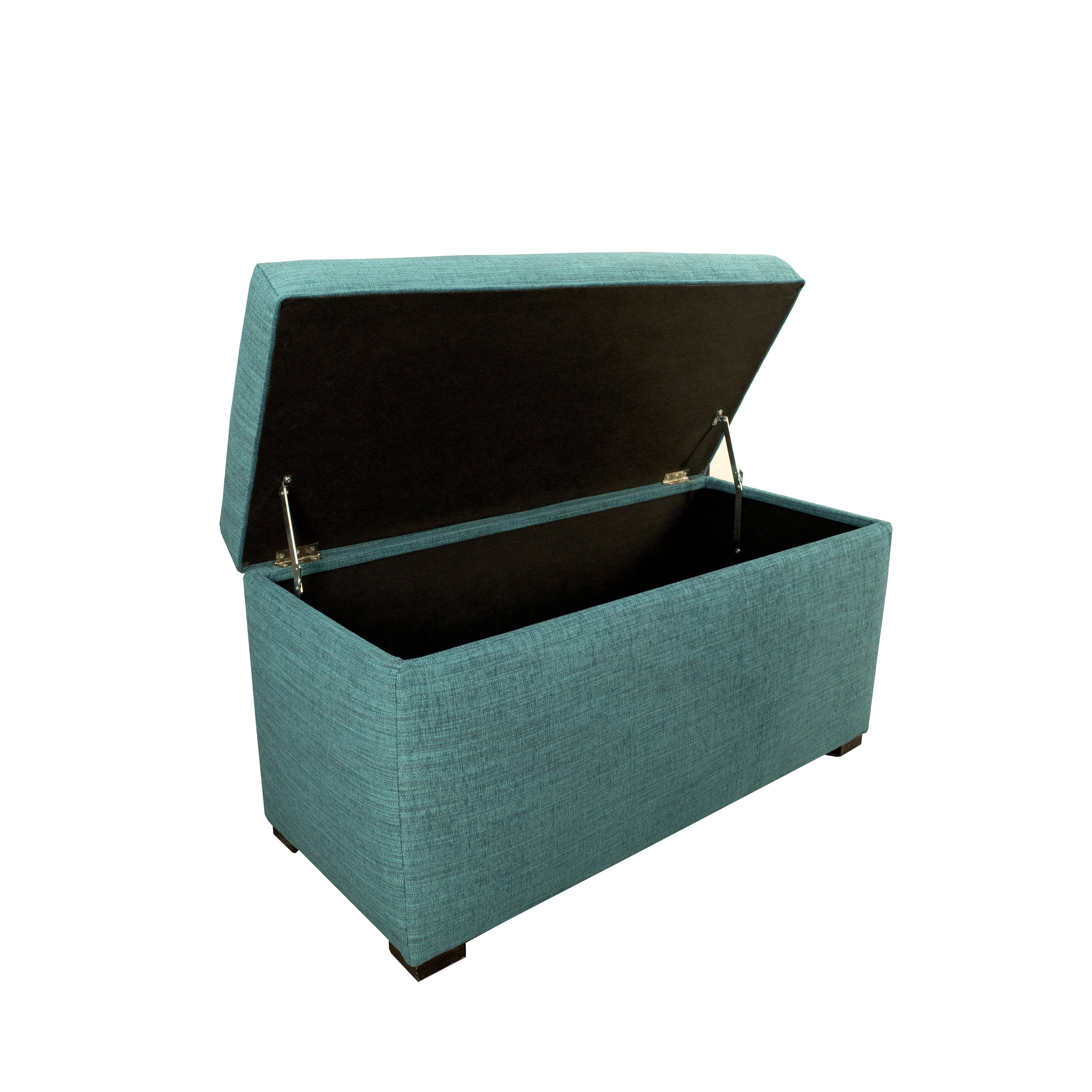 superior Teal Storage Trunk Part - 12: Shop Angela 8 Button Tufted Lucky Storage Trunk - Bench - Free Shipping  Today - Overstock.com - 10756622