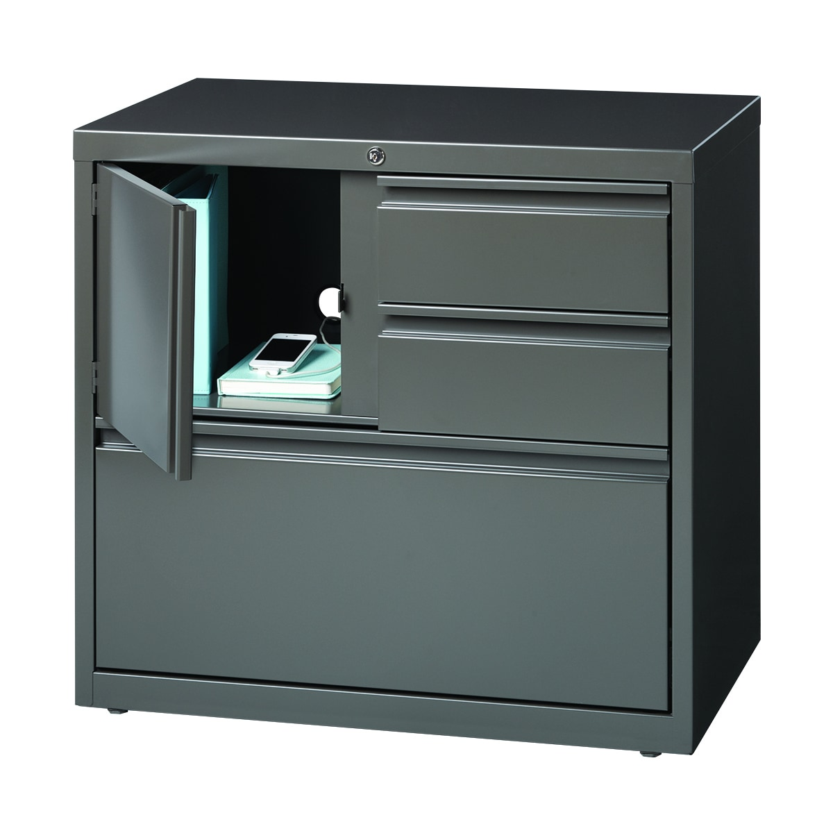 Good Hirsh HL8000 Medium Grey Tone Personal Storage Center 30 Inch Lateral File  Cabinet   Free Shipping Today   Overstock   17810391