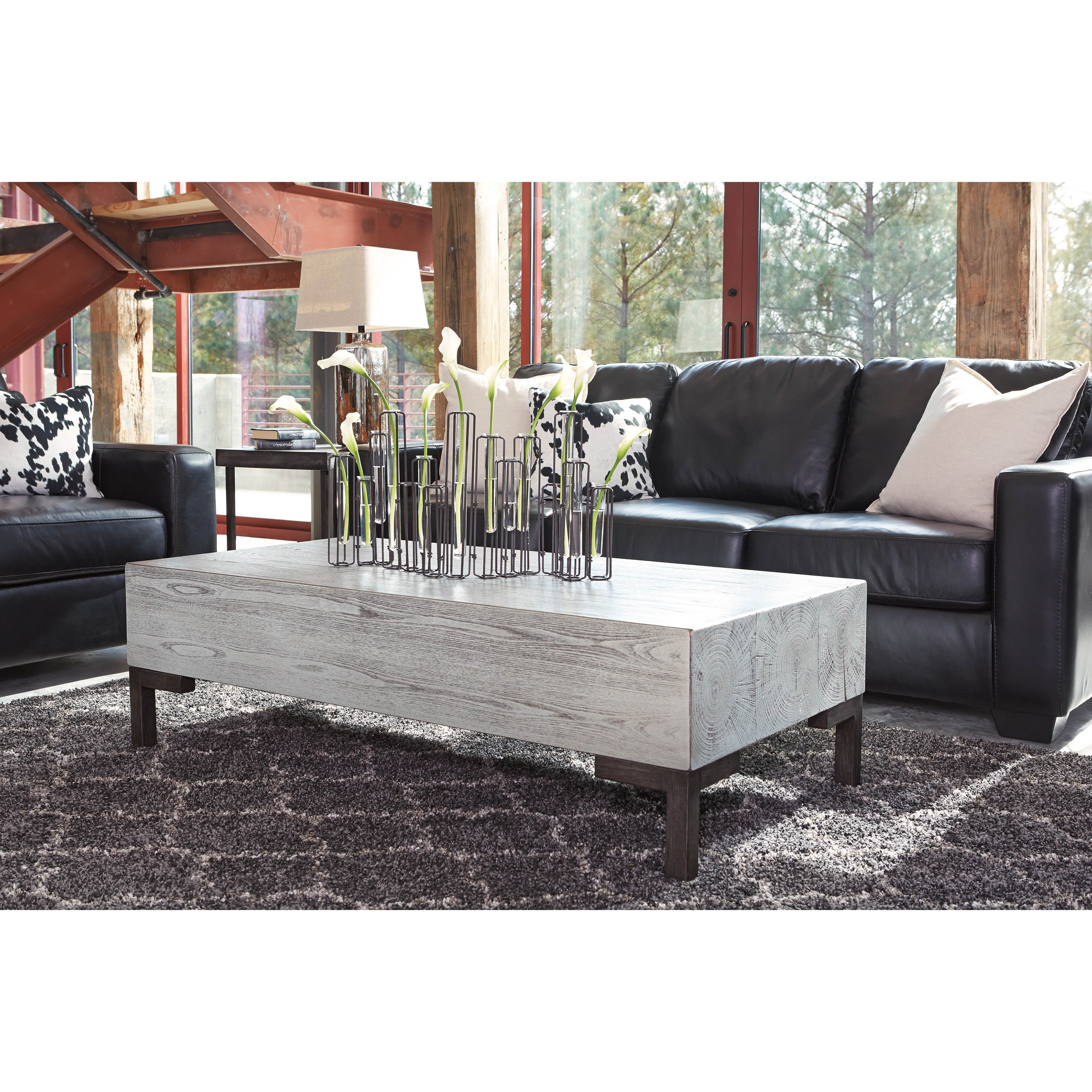 Shop signature design by ashley rasmin silver finish rectangular cocktail table free shipping today overstock com 10758312