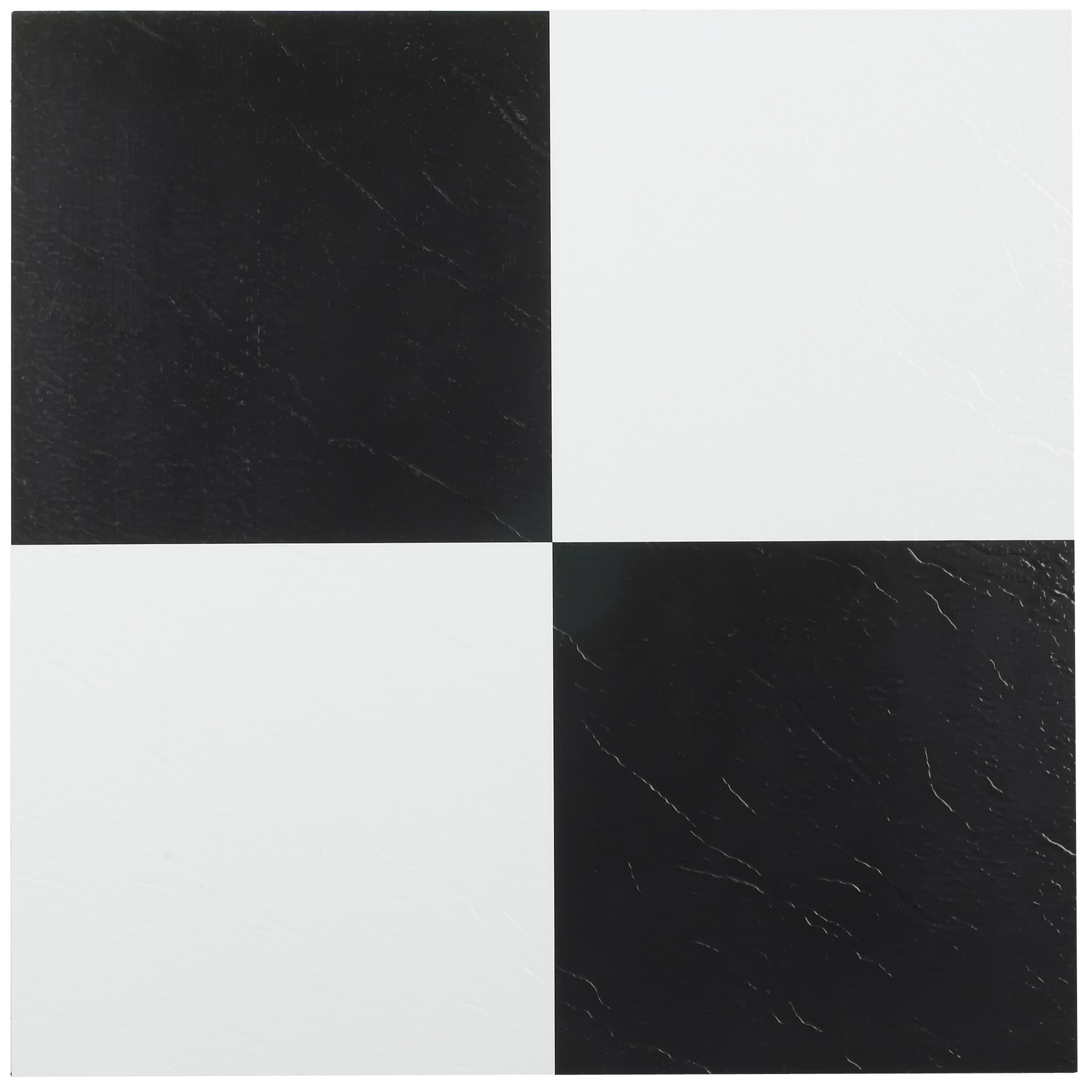 Achim Tivoli Black & White 12x12 Self Adhesive Vinyl Floor Tile - 45 ...