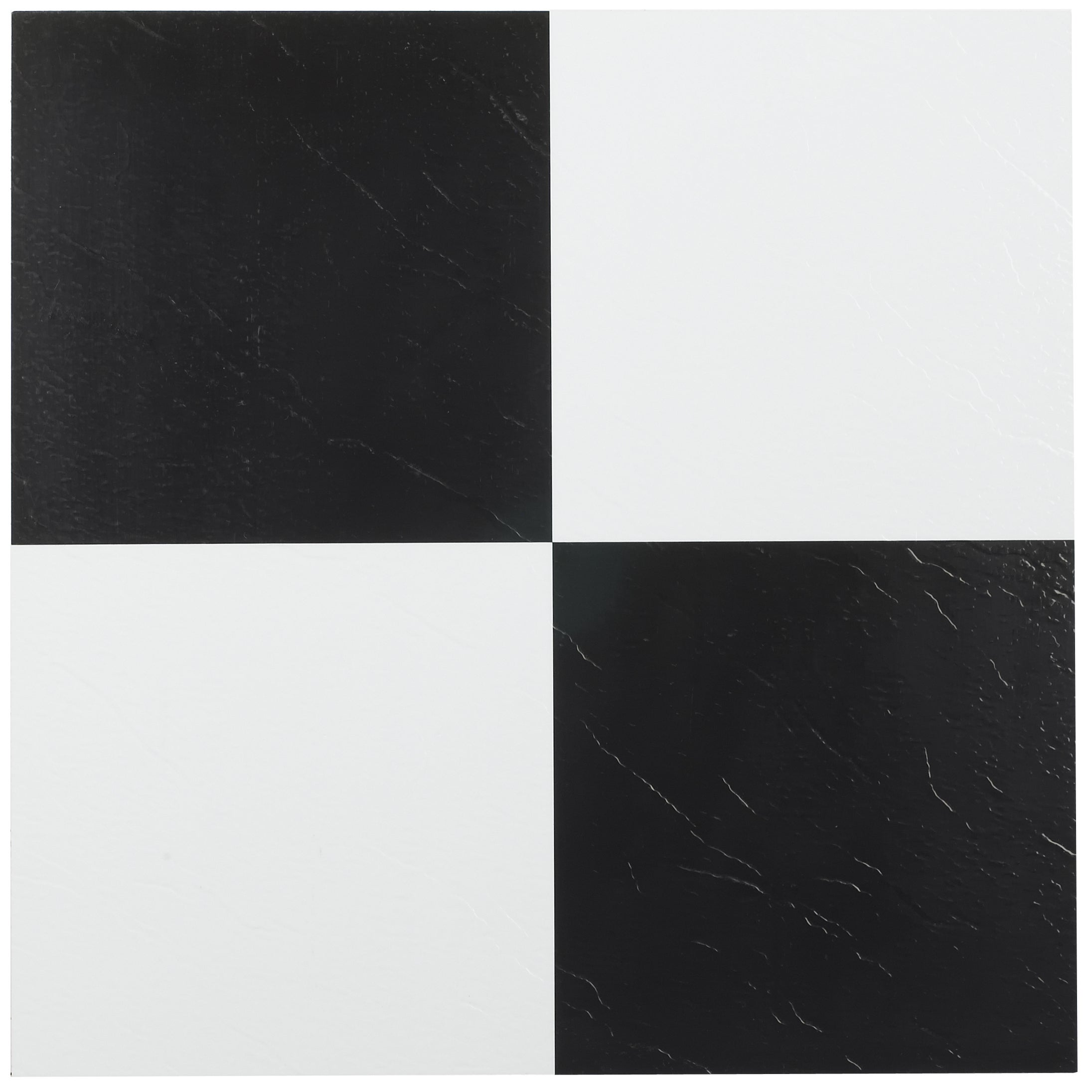 Achim tivoli black white 12x12 self adhesive vinyl floor tile achim tivoli black white 12x12 self adhesive vinyl floor tile 45 tiles45 sq ft free shipping on orders over 45 overstock 17811546 dailygadgetfo Images