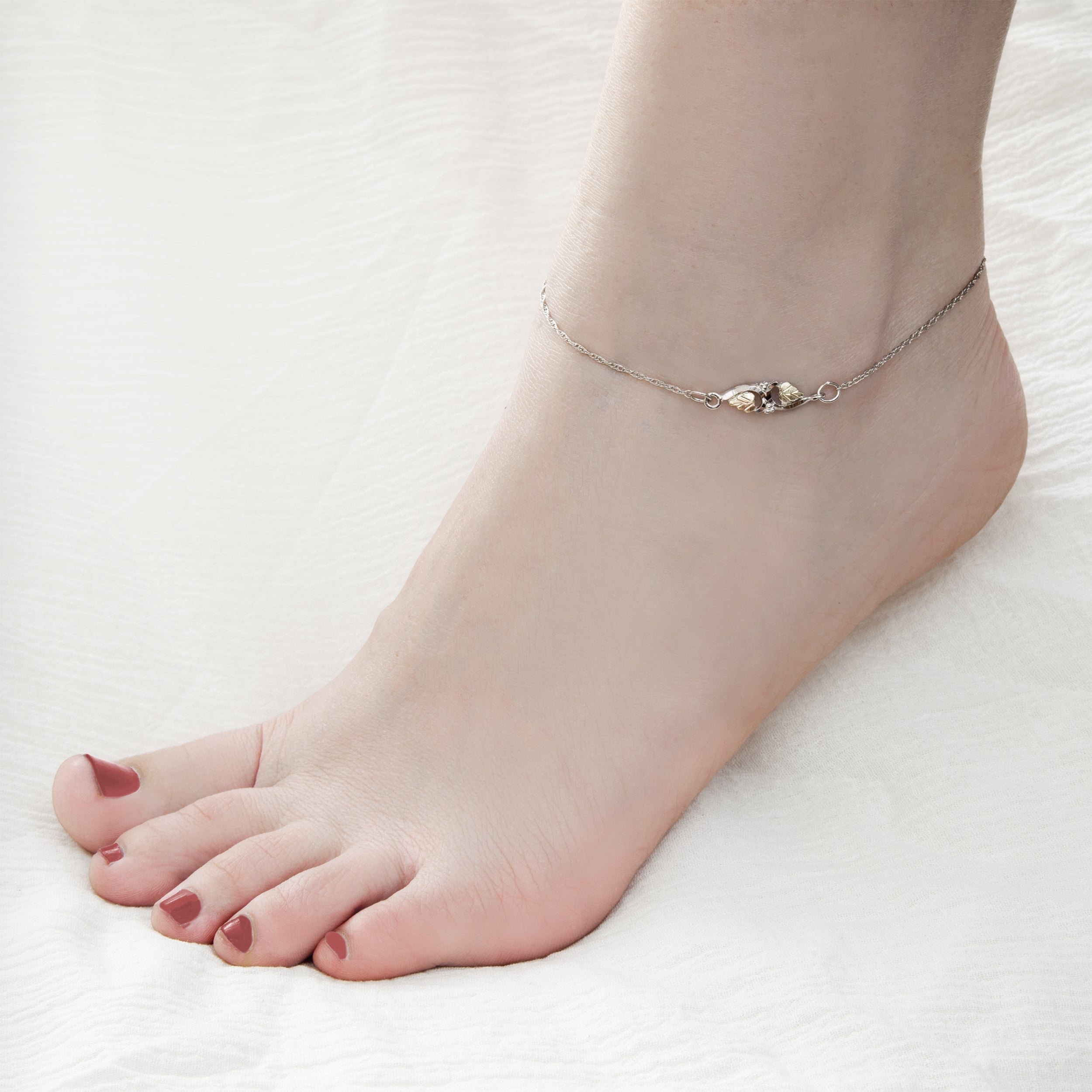 jewelry gold link inch amazon dp karat yellow com figaro anklet